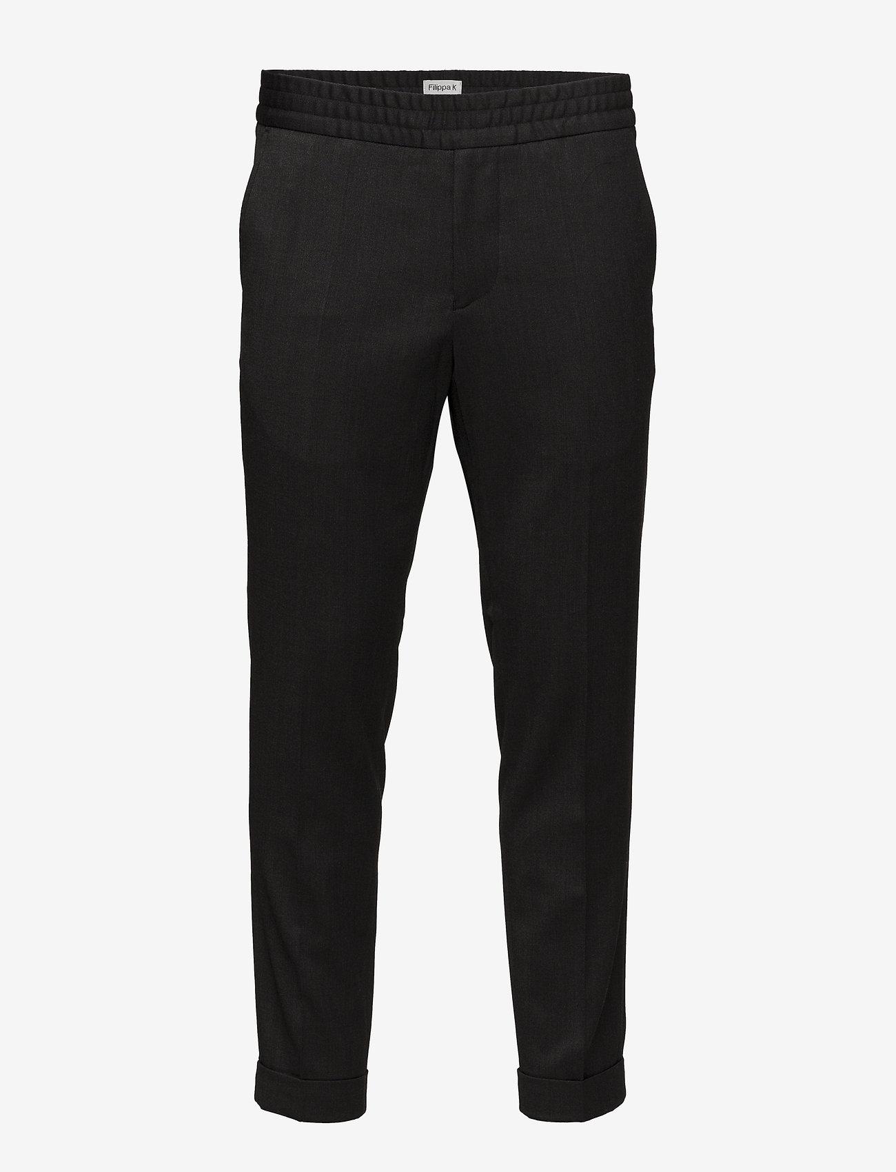 Filippa K - M. Terry Gabardine Pants - formele broeken - anthracite - 0