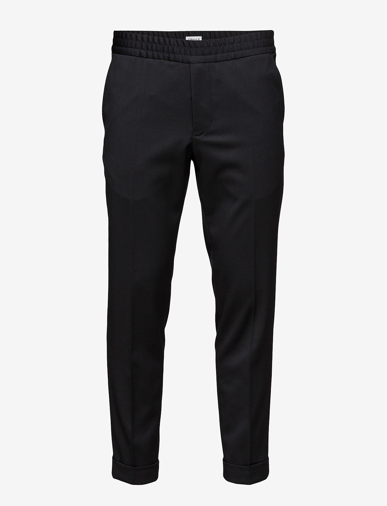 Filippa K - TERRY CROPPED TROUSER - suit trousers - black - 0
