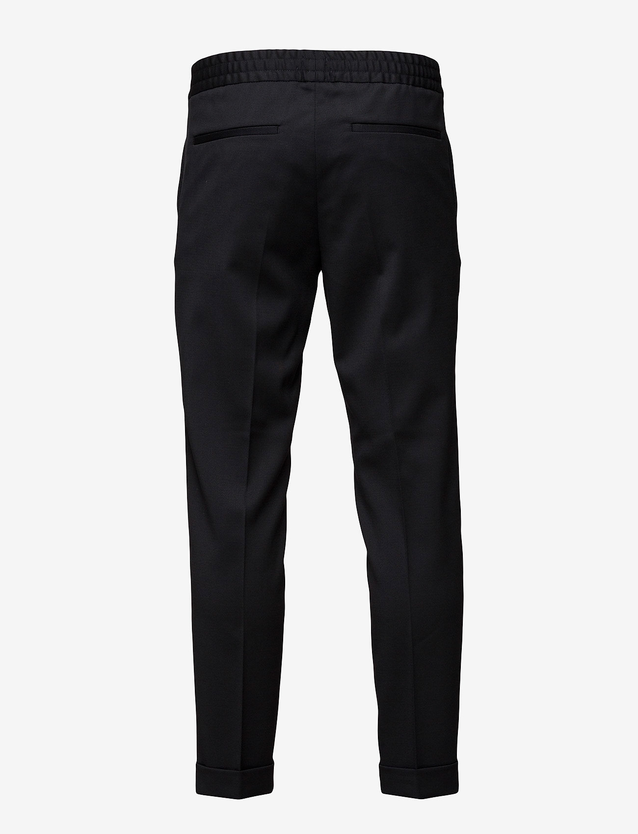 Filippa K - TERRY CROPPED TROUSER - suit trousers - black - 1