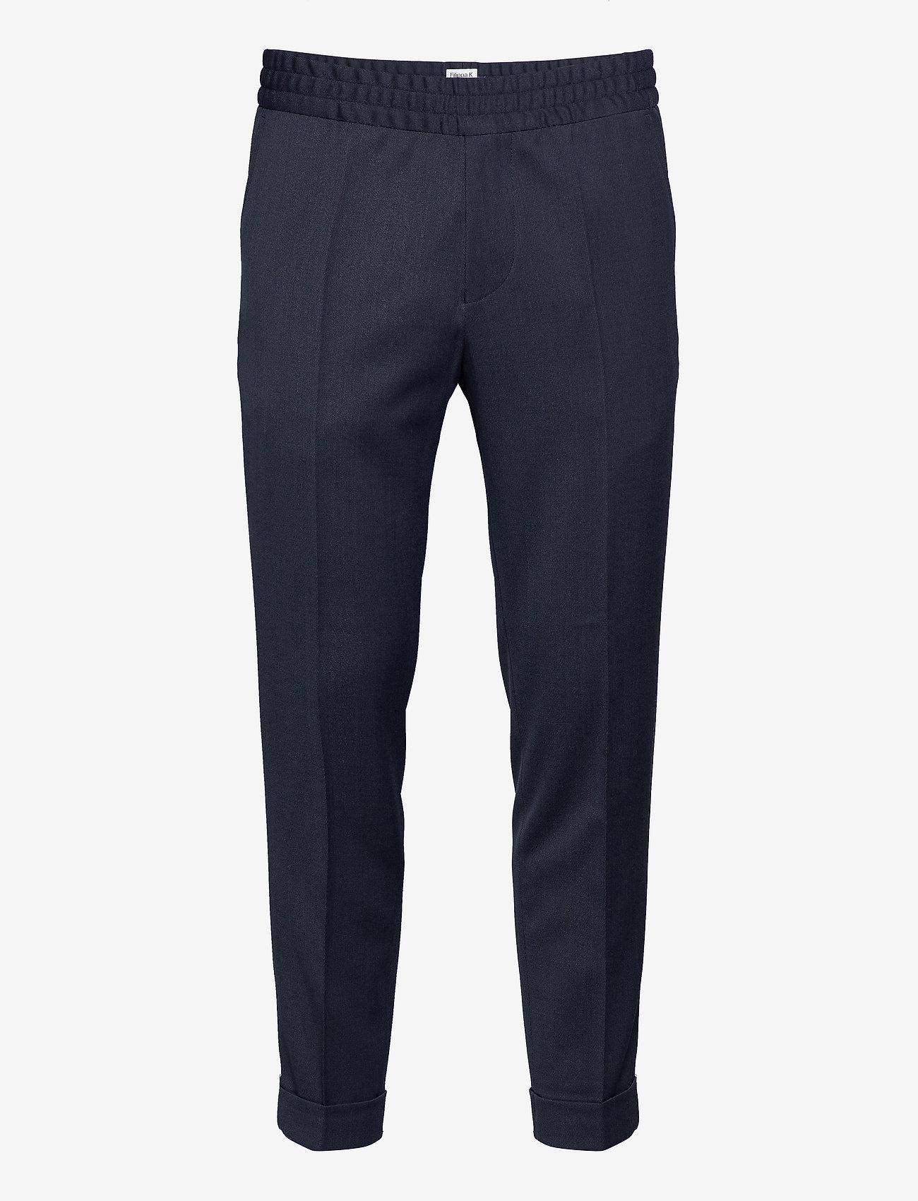 Filippa K - M. Terry Gabardine Pants - formele broeken - dark blue - 0