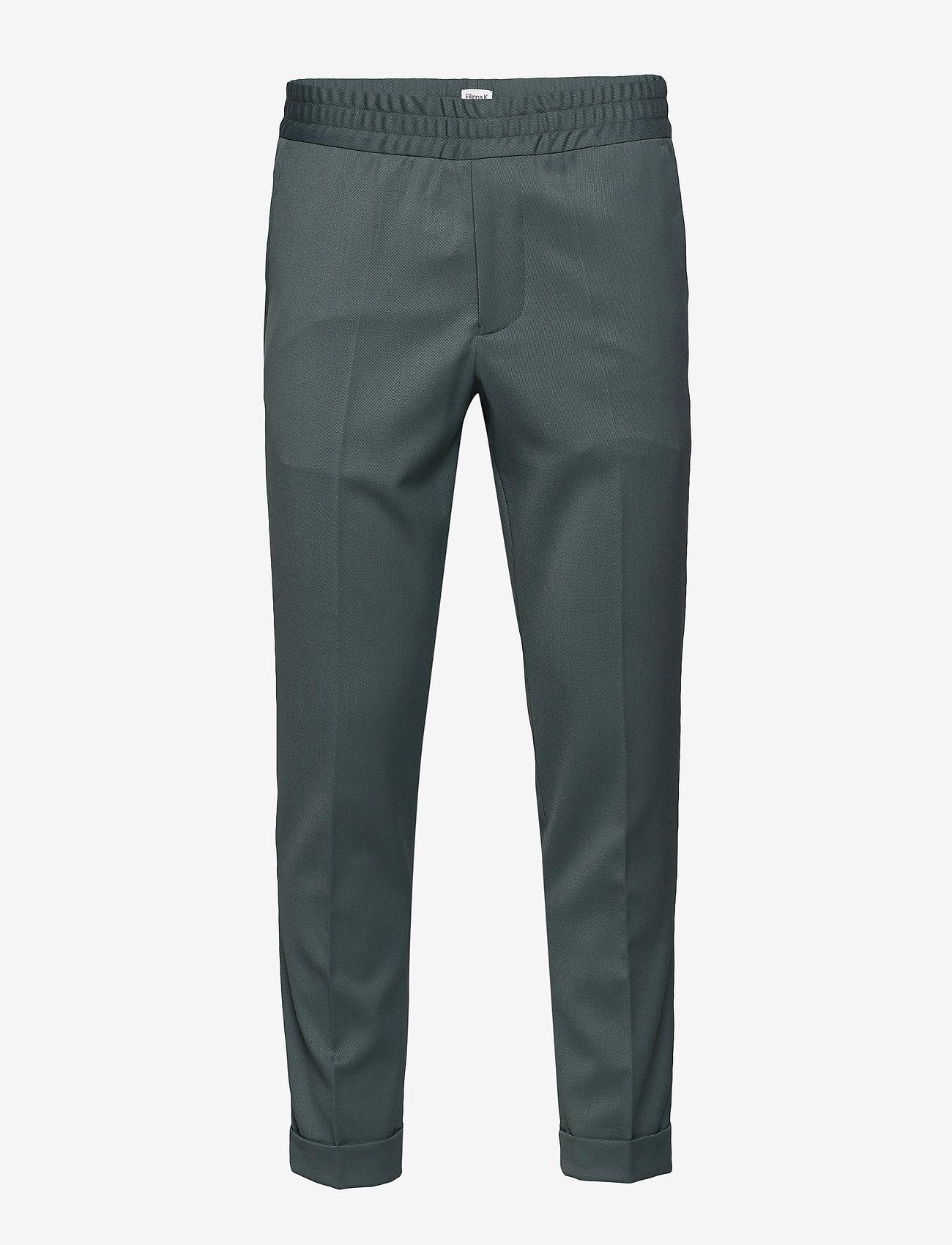 Filippa K - M. Terry Gabardine Pants - formele broeken - dark mint - 0