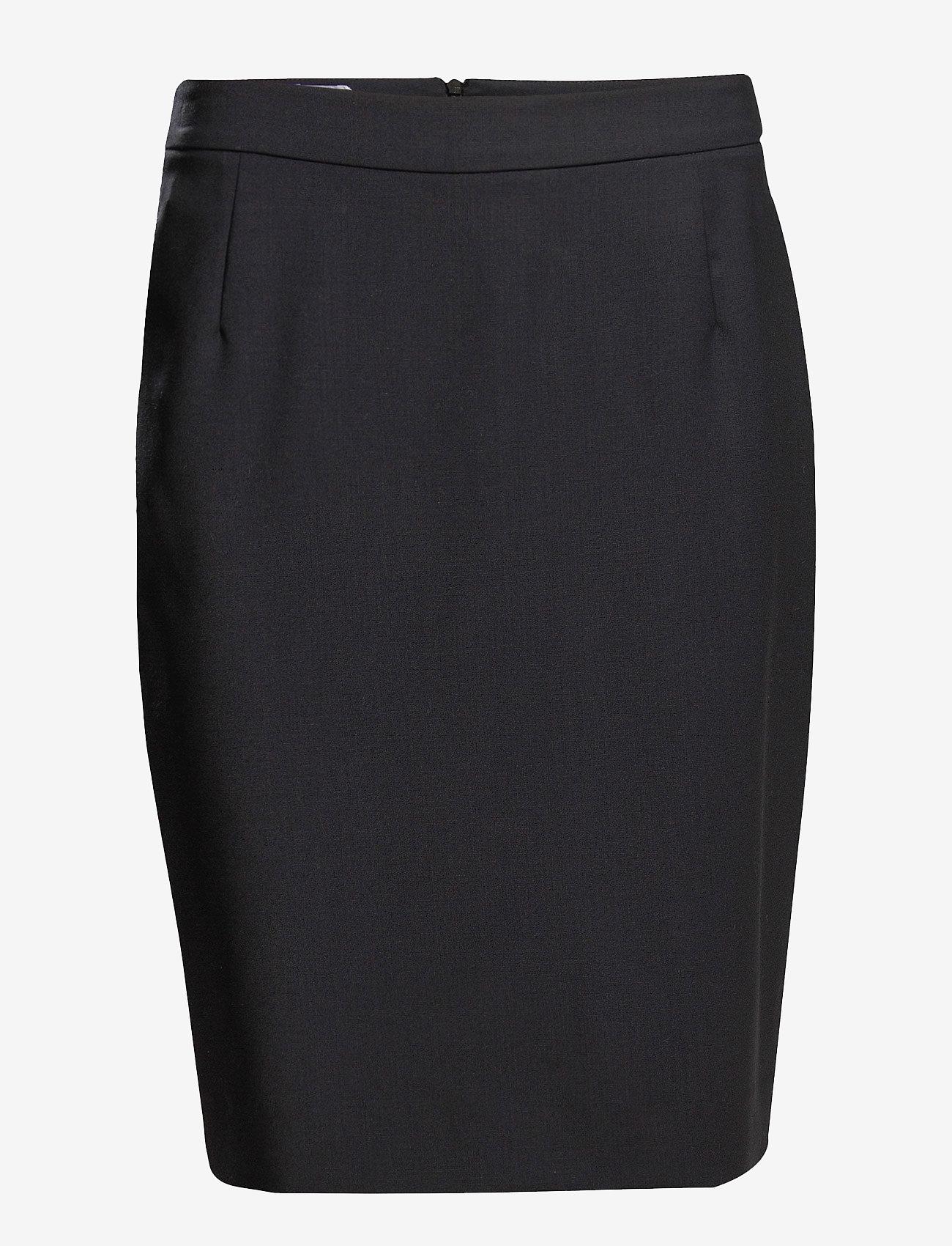 Filippa K - Cool Wool Pencil Skirt - midinederdele - dk. navy - 0