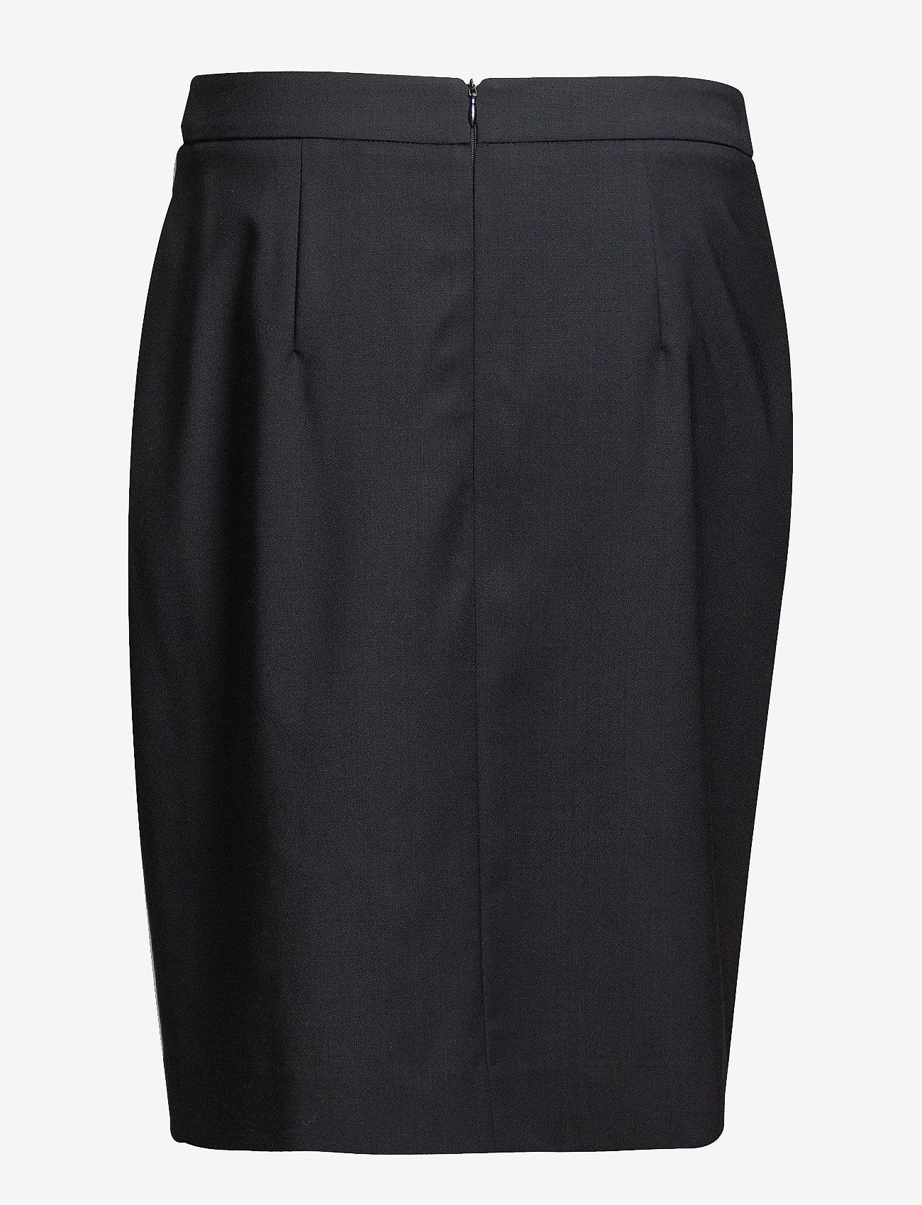 Filippa K - Cool Wool Pencil Skirt - midinederdele - dk. navy - 1
