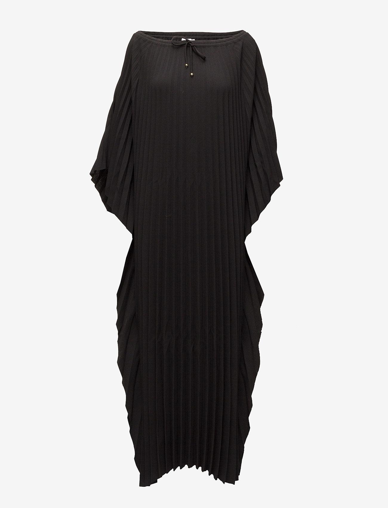 Filippa K - Poncho Plise Dress - sukienki do kolan i midi - black - 0