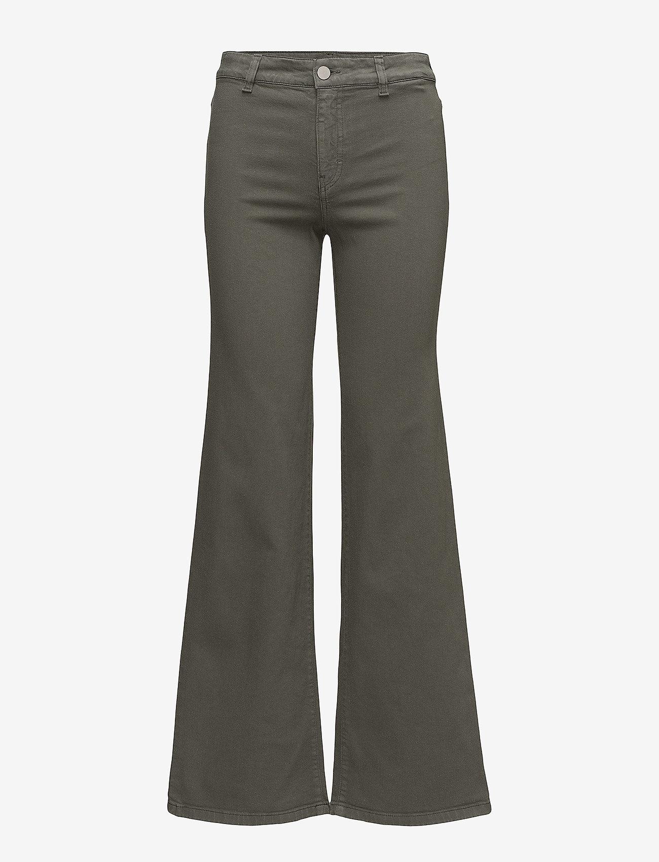Filippa K - Amy Structured Denim - flared jeans - khaki gree - 0