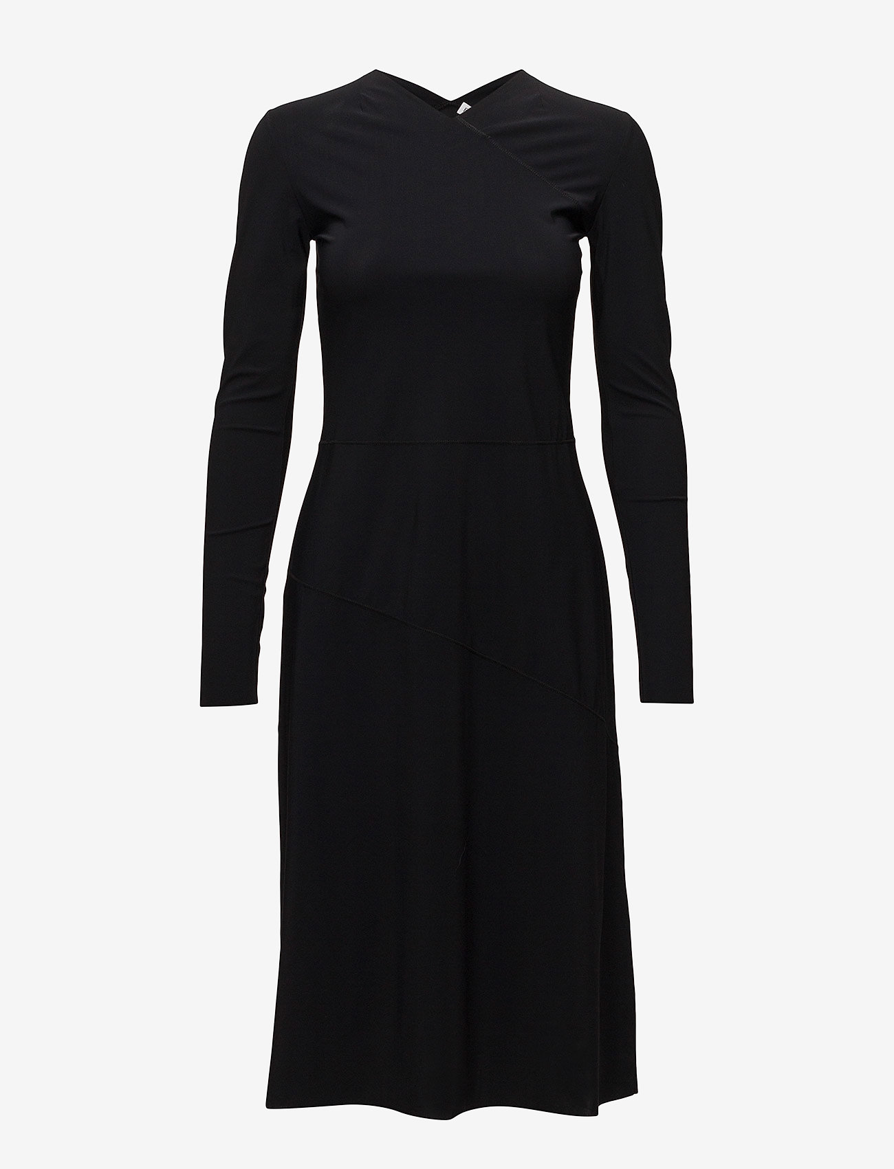 Filippa K - Flared Seam Dress - midiklänningar - black - 0