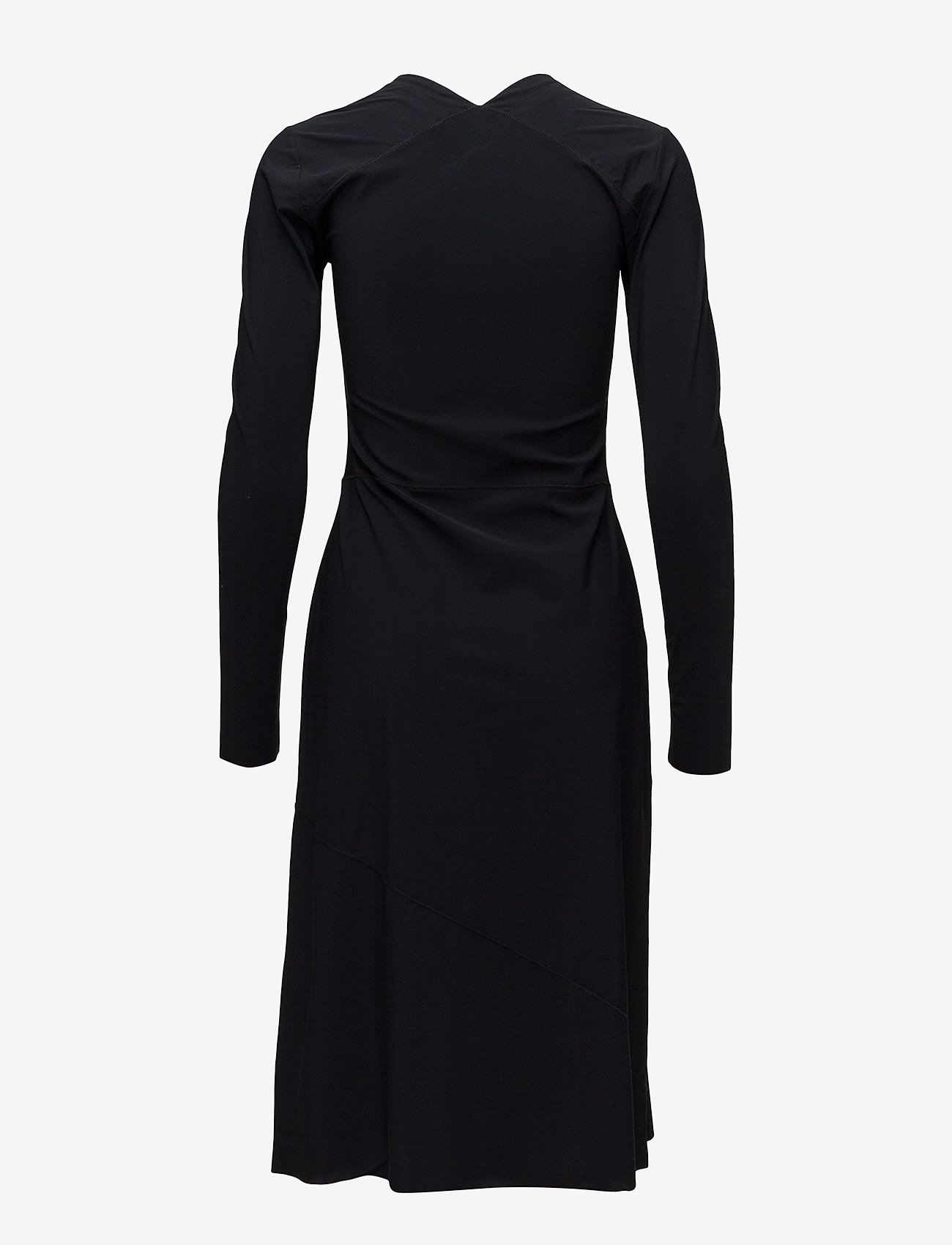 Filippa K - Flared Seam Dress - midiklänningar - black - 1