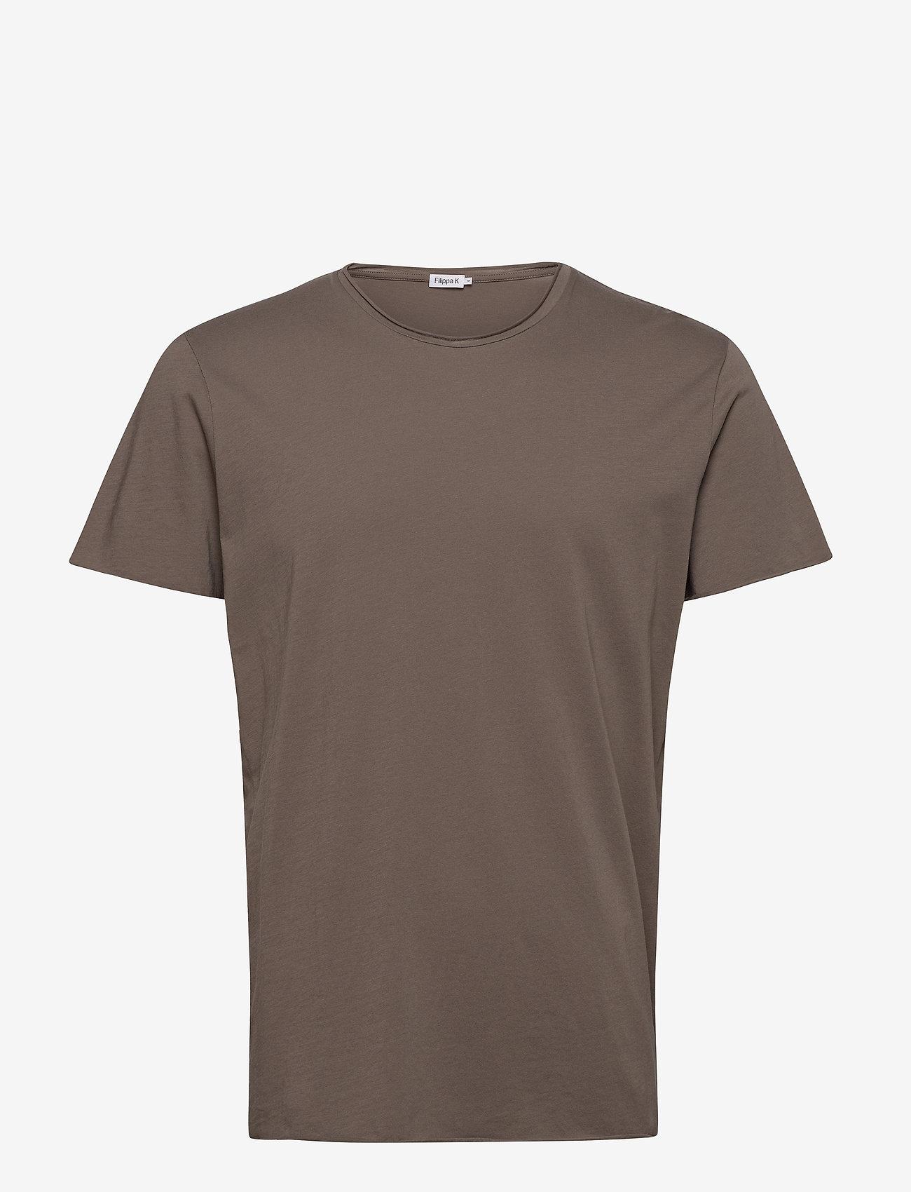 Filippa K - M. Roll Neck Tee - basic t-shirts - dark taupe - 0