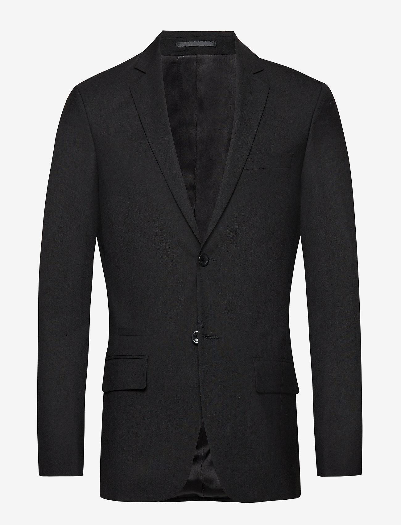 Filippa K - M. Rick Wool Jacket - marynarki jednorzędowe - black - 0