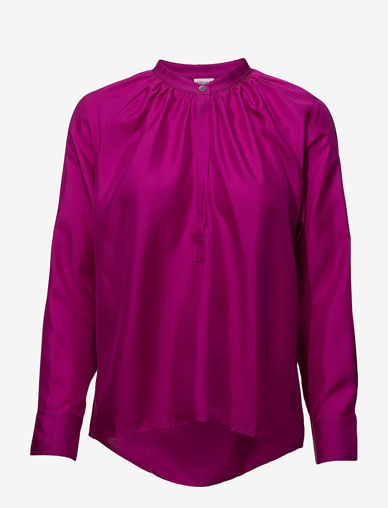 Filippa K - Gathered Silk Blouse - blouses à manches longues - orchid