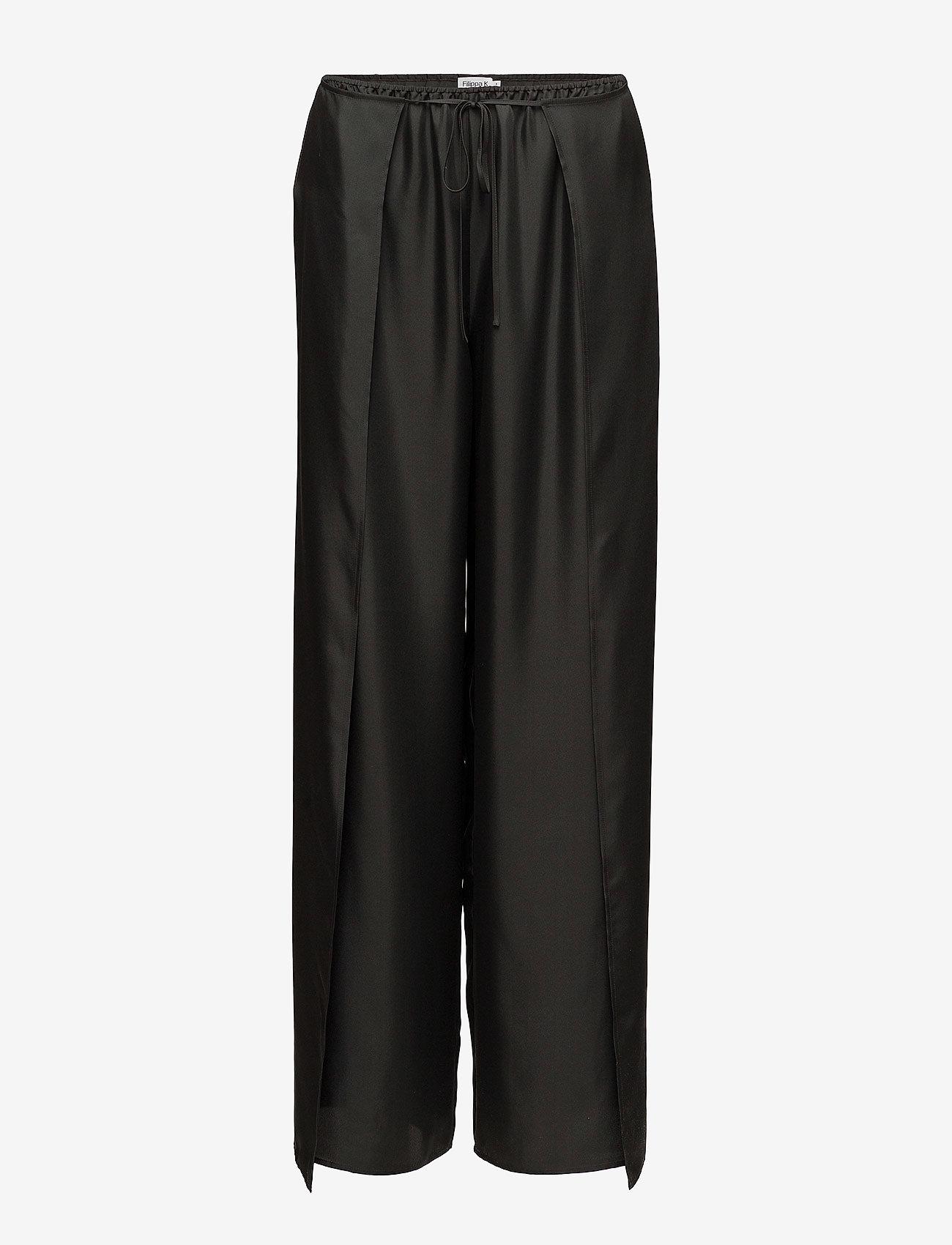 Filippa K - Lulu Silk Trousers - wide leg trousers - enigma