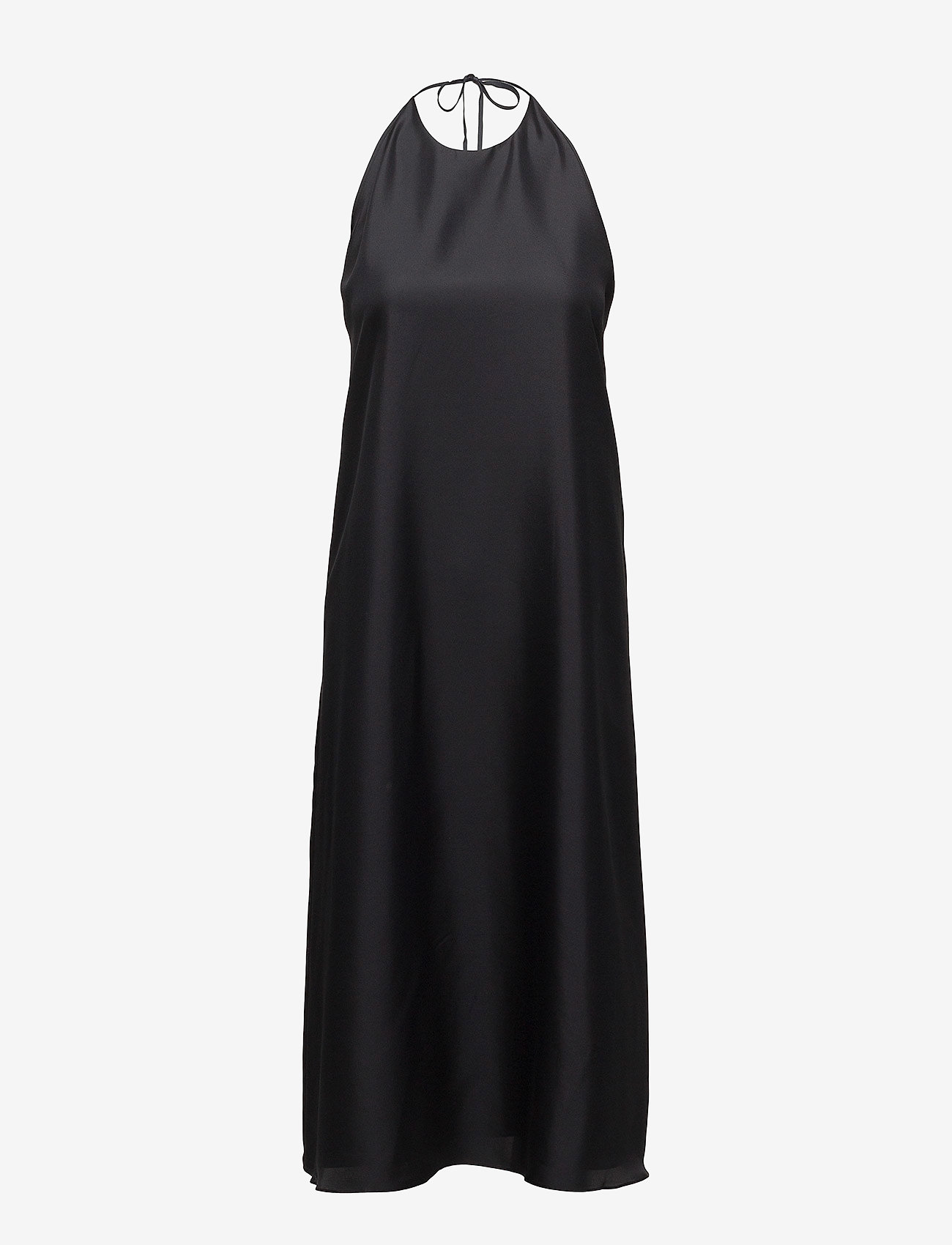 Filippa K - Silk Halter Dress - robes longeur du midi - black
