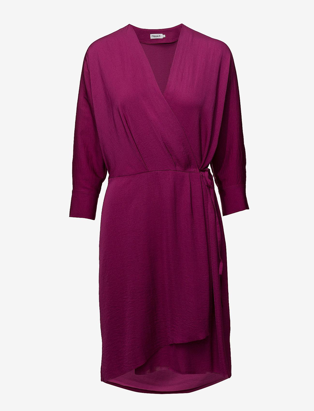 Filippa K - Slinky Wrap Dress - wikkel jurken - orchid - 0
