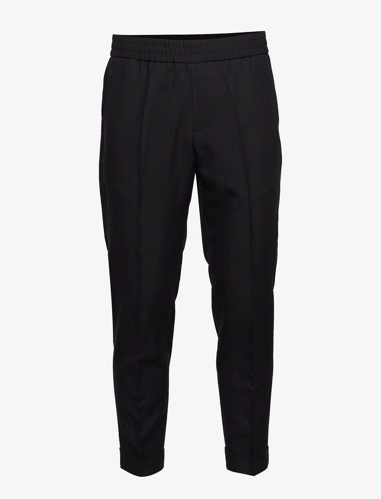 Filippa K - M. Terry Cropped Linen Slacks - pantalons décontractés - black - 0