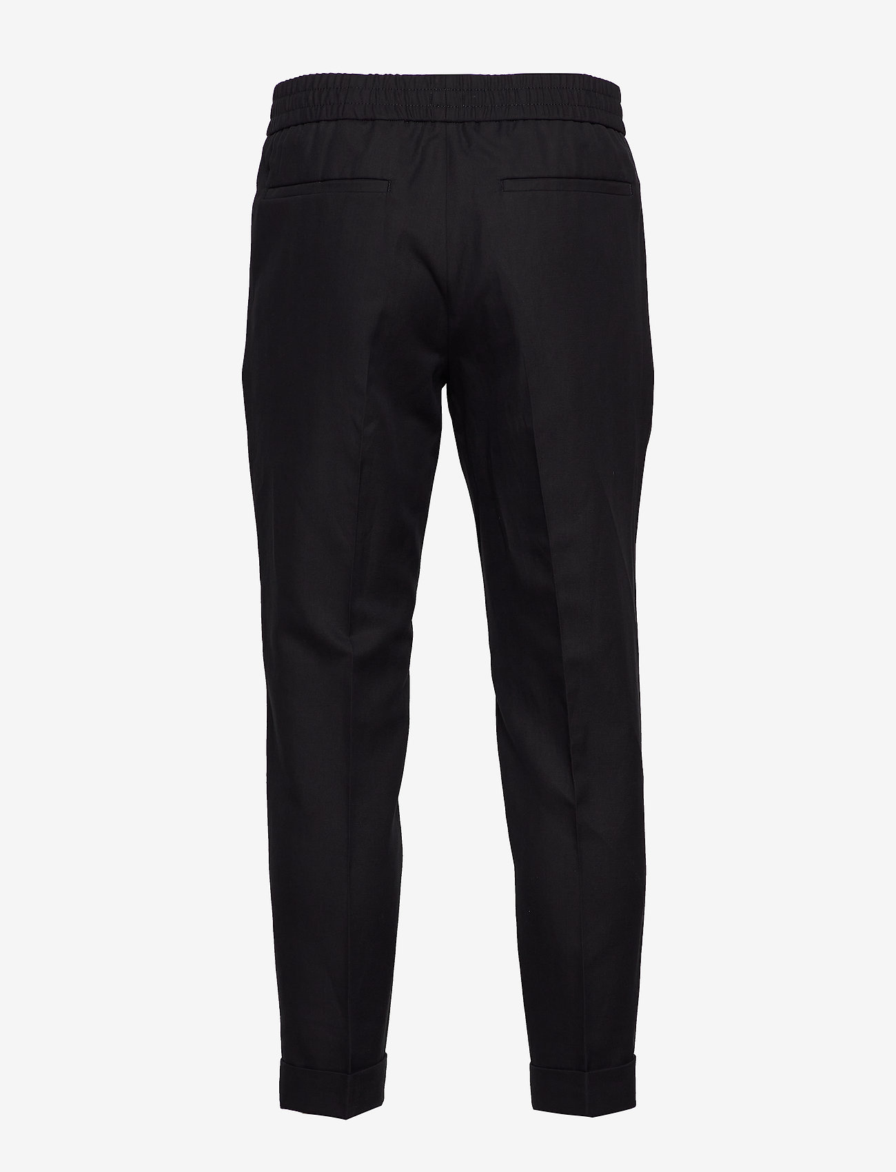 Filippa K - M. Terry Cropped Linen Slacks - pantalons décontractés - black - 1