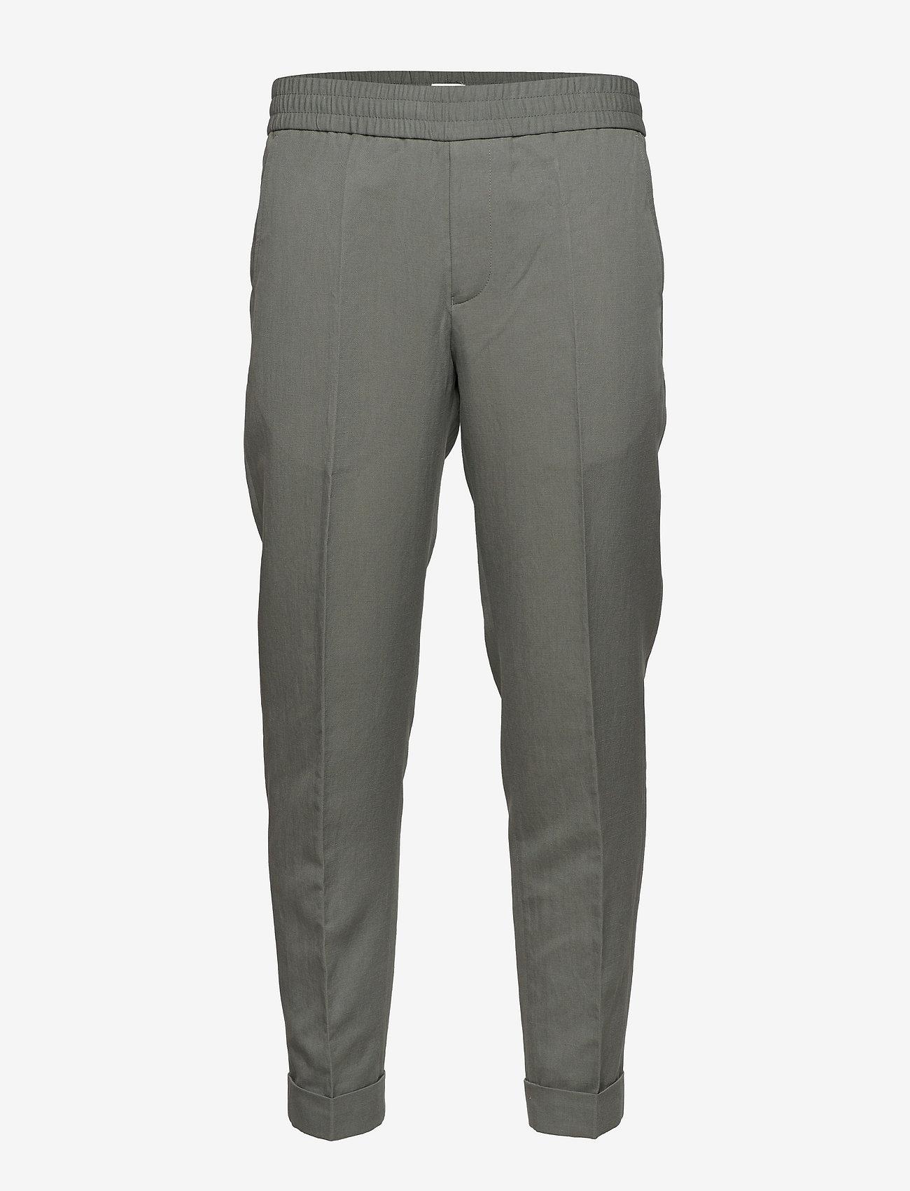 Filippa K - M. Terry Cropped Linen Slacks - casual broeken - green grey - 0
