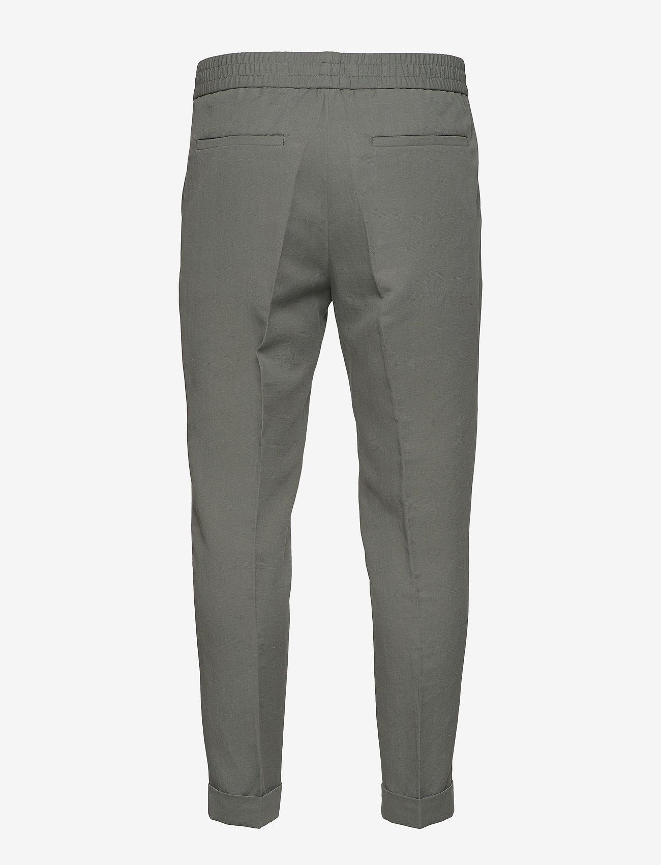 Filippa K - M. Terry Cropped Linen Slacks - casual broeken - green grey - 1