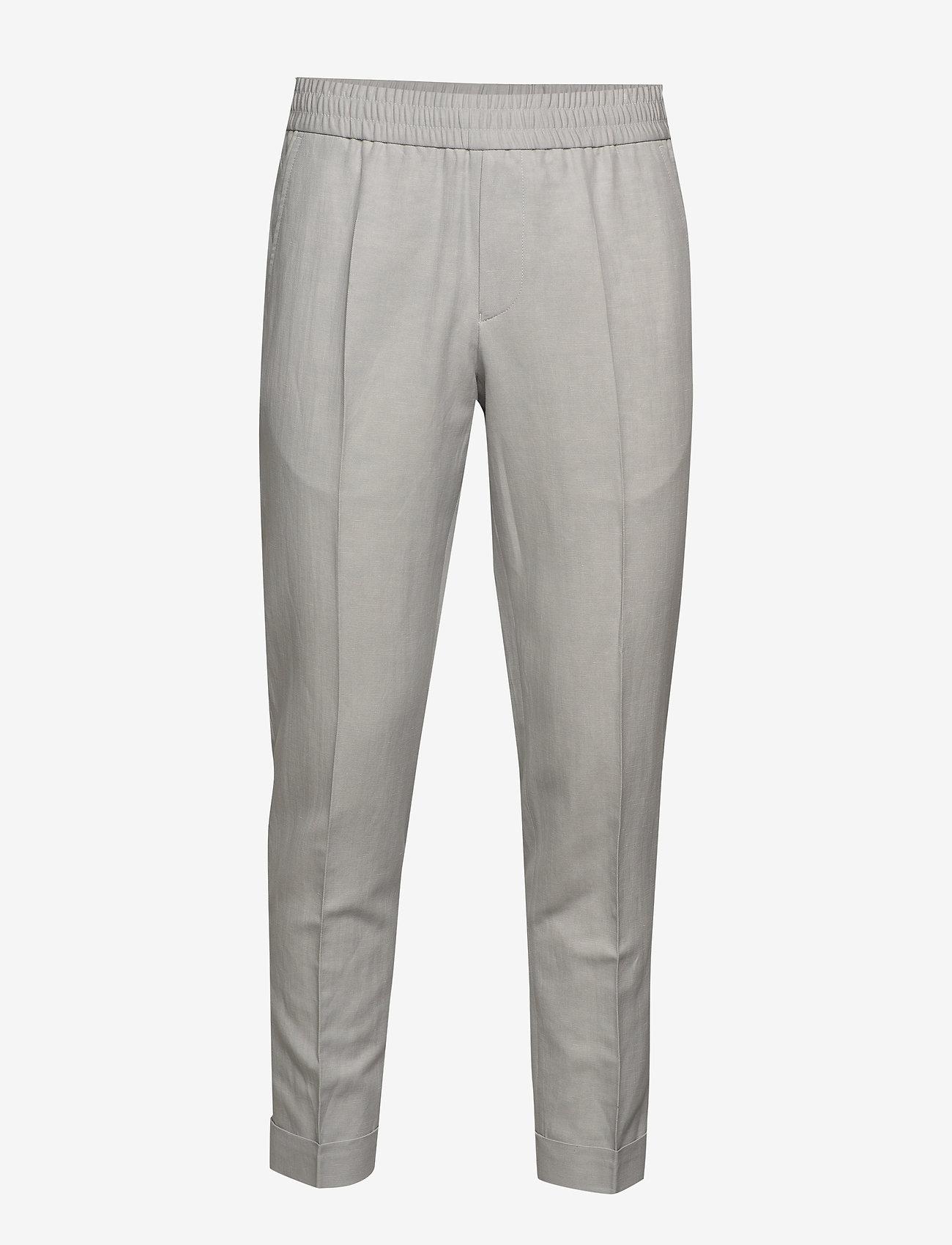 Filippa K - M. Terry Cropped Linen Slacks - pantalons décontractés - sterling g - 0