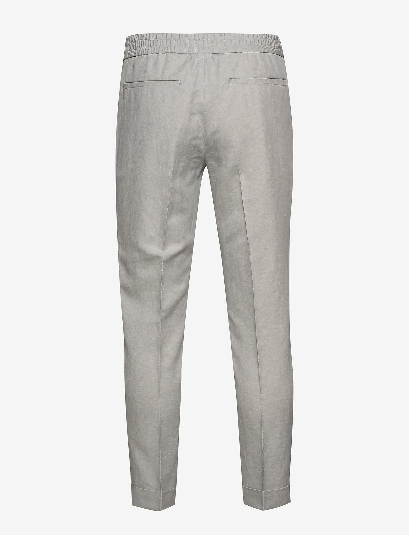 Filippa K - M. Terry Cropped Linen Slacks - pantalons décontractés - sterling g - 1