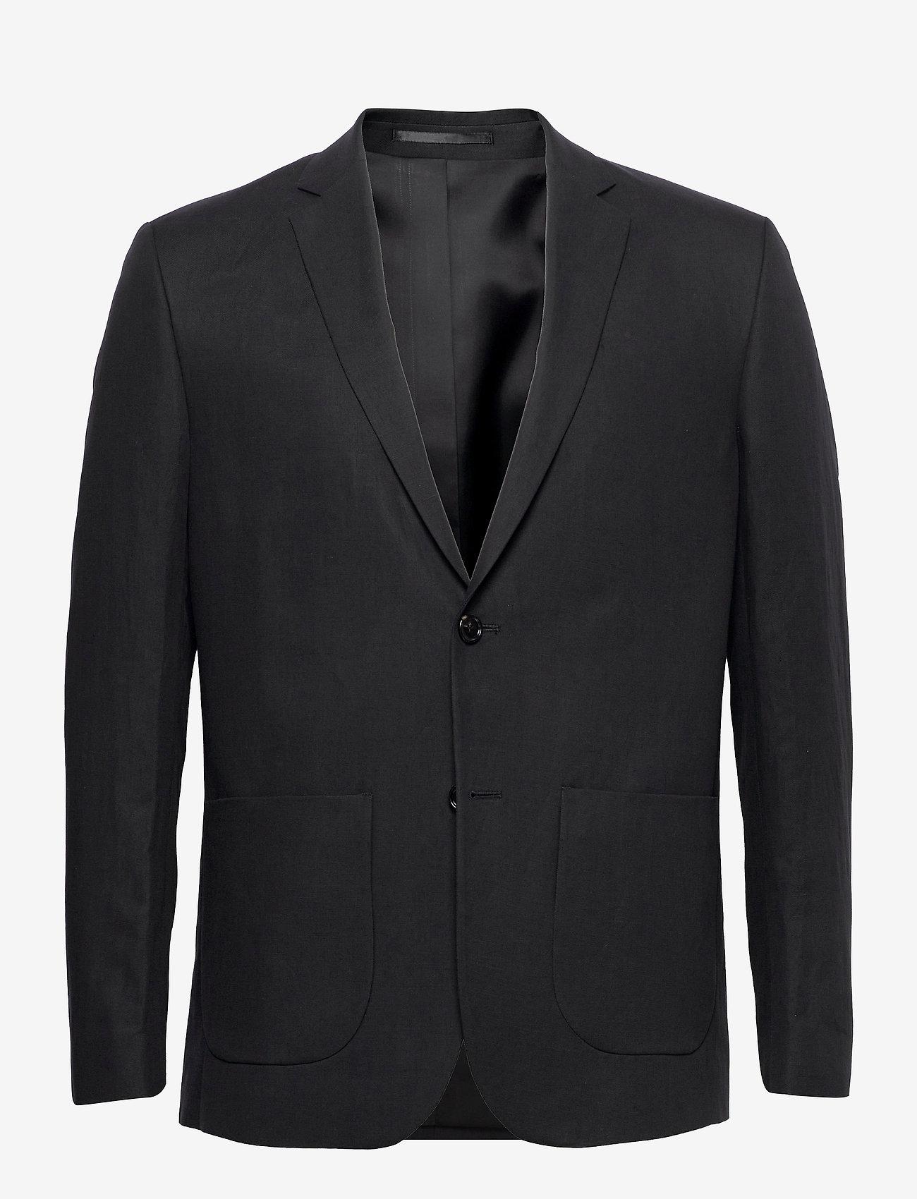 Filippa K - M. Rick Linen Blazer - single breasted blazers - fern mel√°n - 0