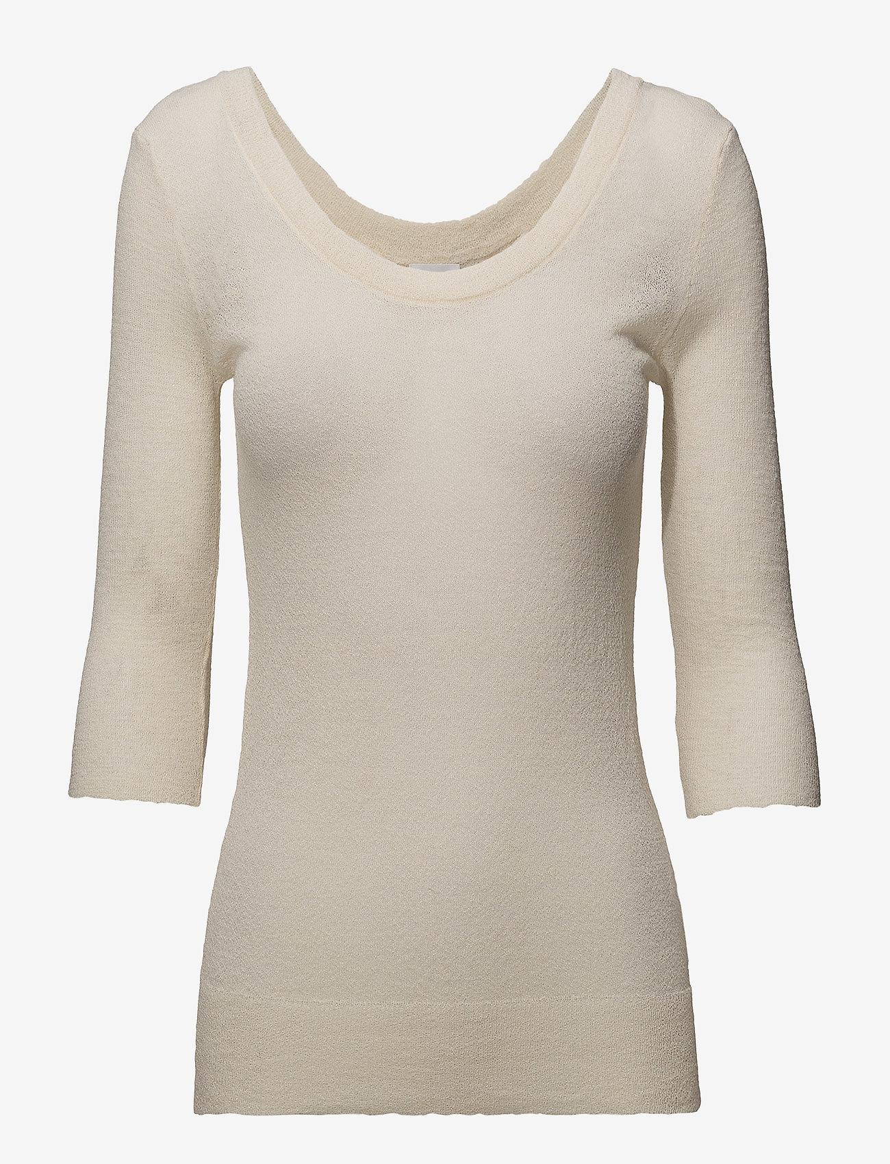 Filippa K - Sheer Merino Knit Top - long-sleeved tops - canvas