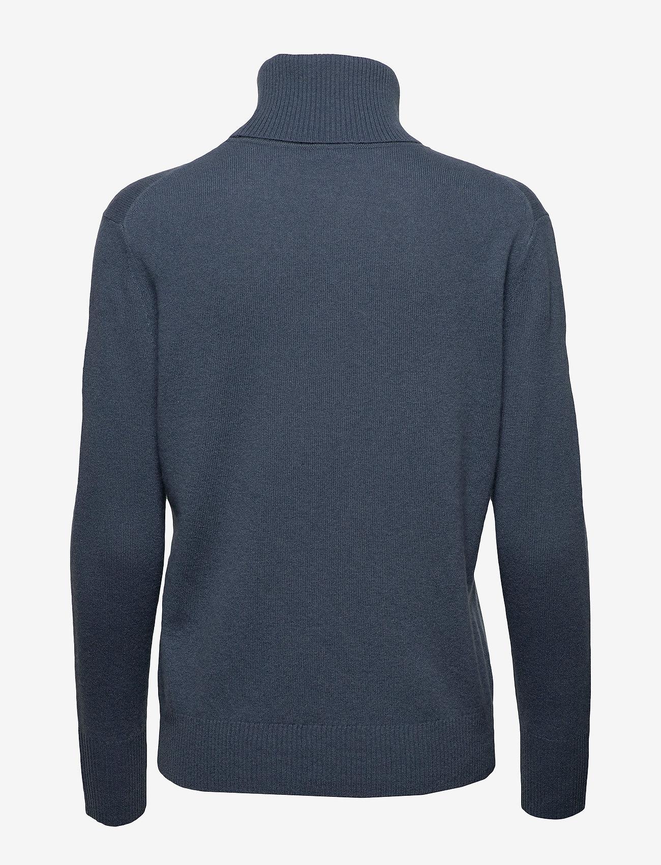 Filippa K - Cashmere Roller Neck Sweater - kashmir - blue grey