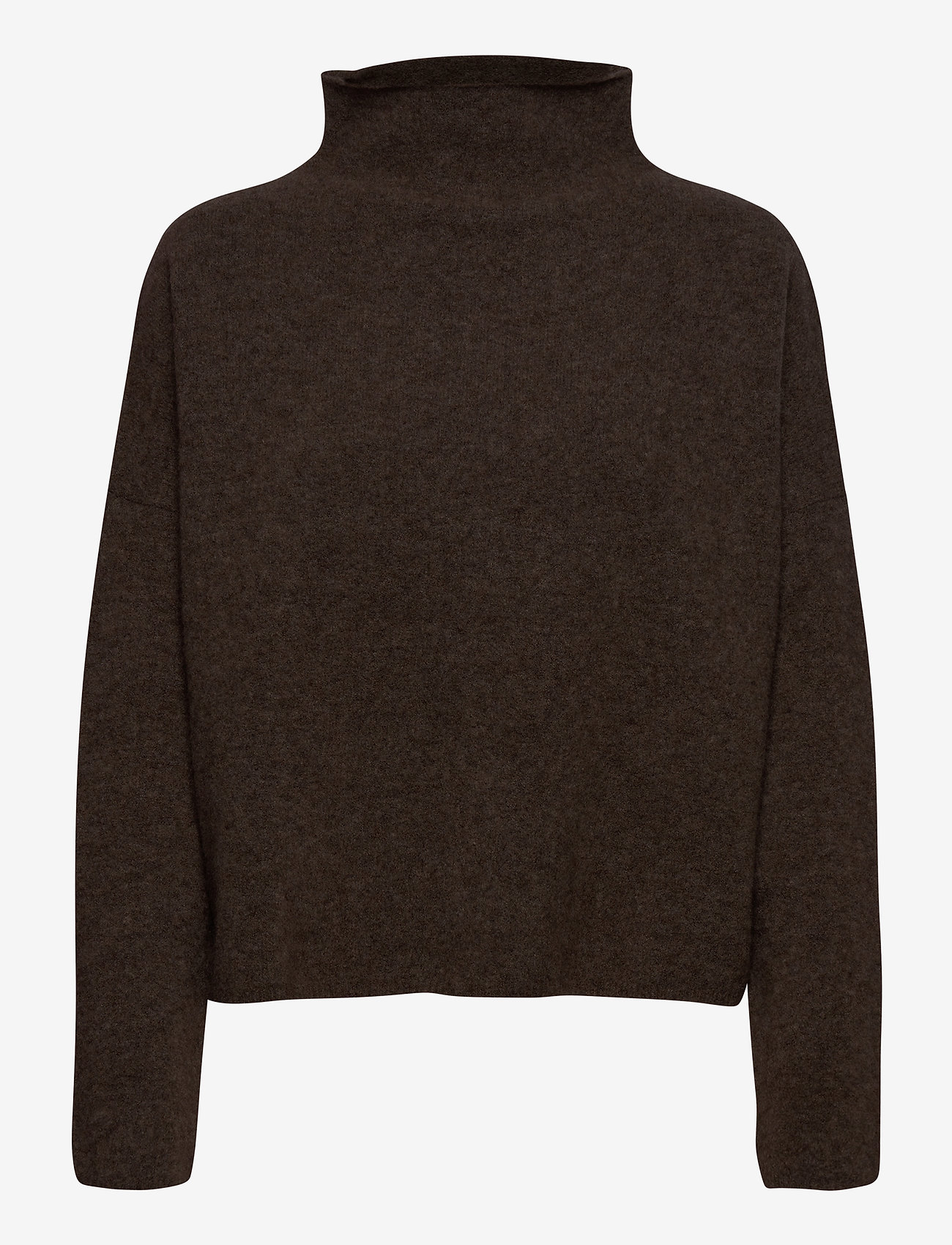 Filippa K - Mika Yak Funnelneck Sweater - turtlenecks - dark taupe - 0