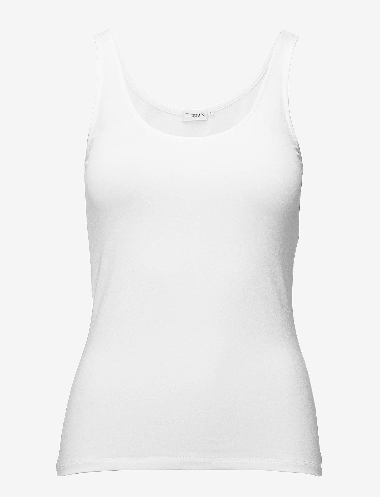 Filippa K - Cotton Stretch Tank Top - tops zonder mouwen - white - 0