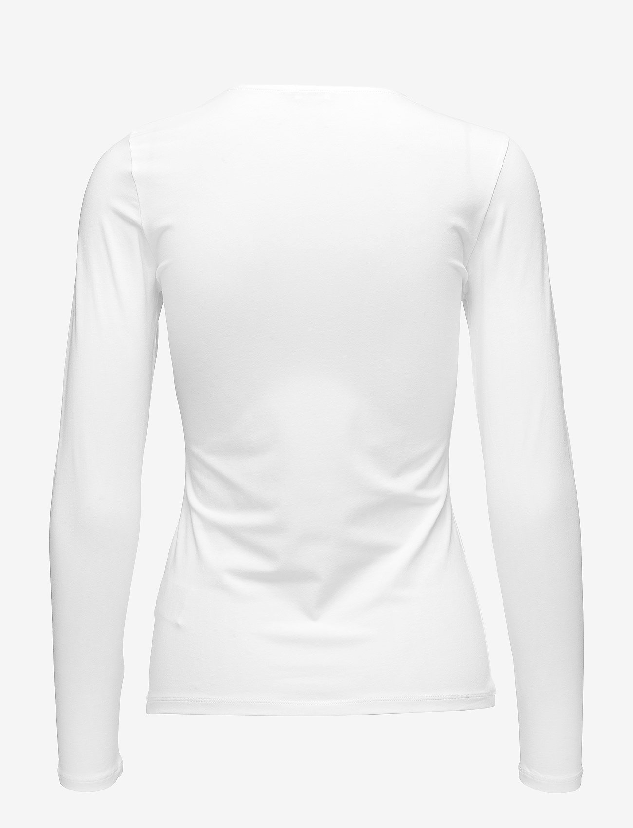 Filippa K - Cotton Stretch Long Sleeve - langærmede toppe - white - 1