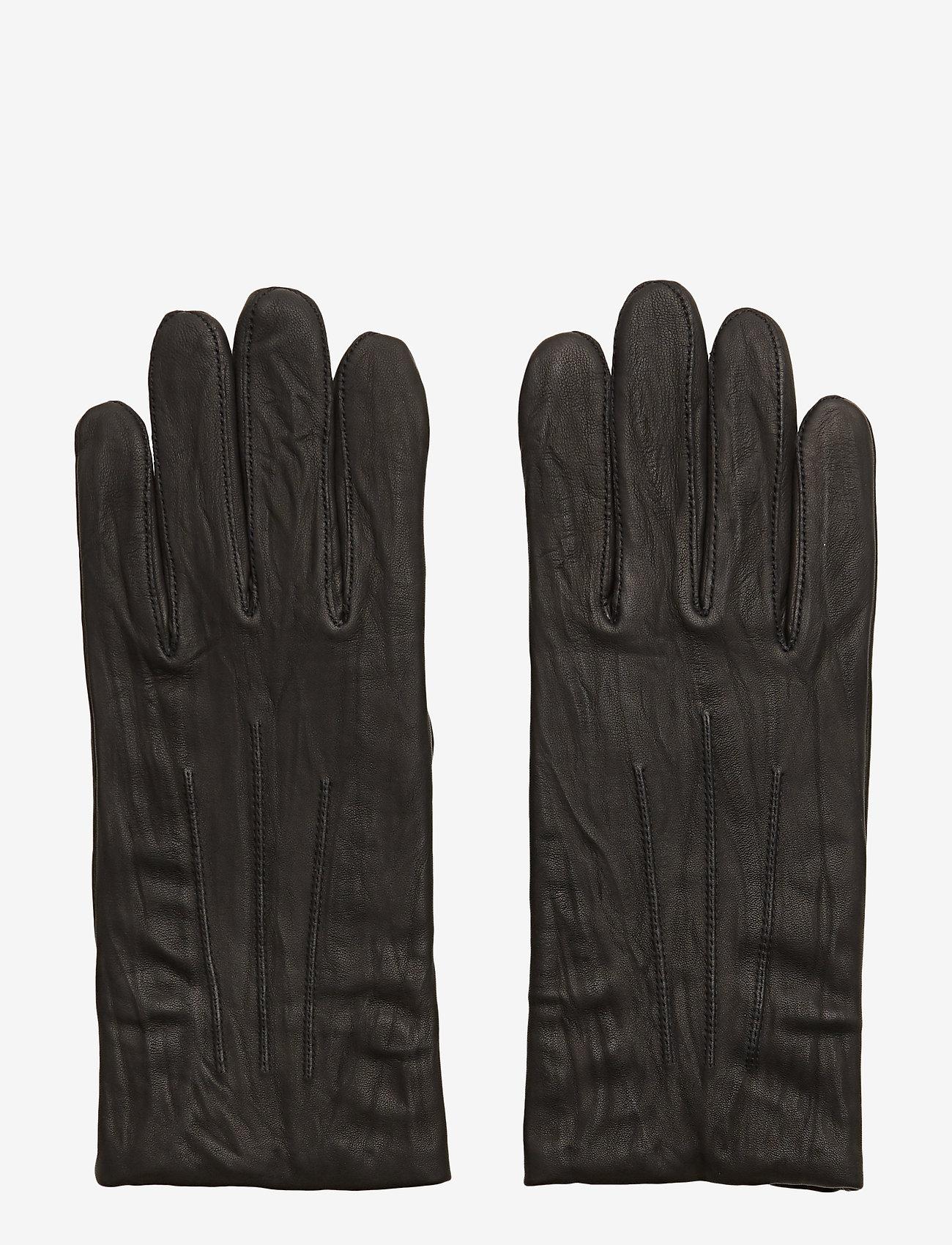 Filippa K - M. Classic Leather Gloves - rękawiczki - black - 0