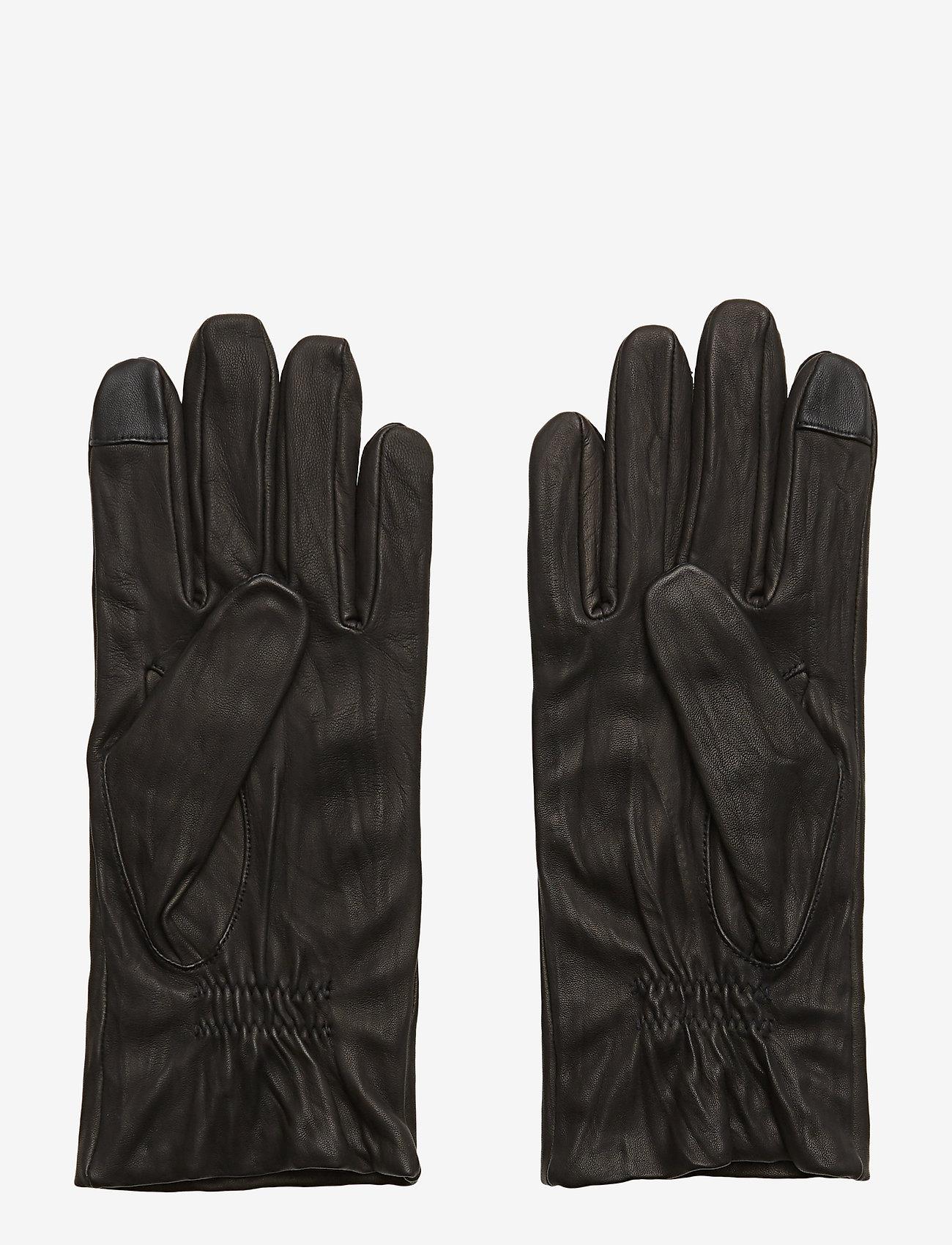 Filippa K - M. Classic Leather Gloves - rękawiczki - black - 1