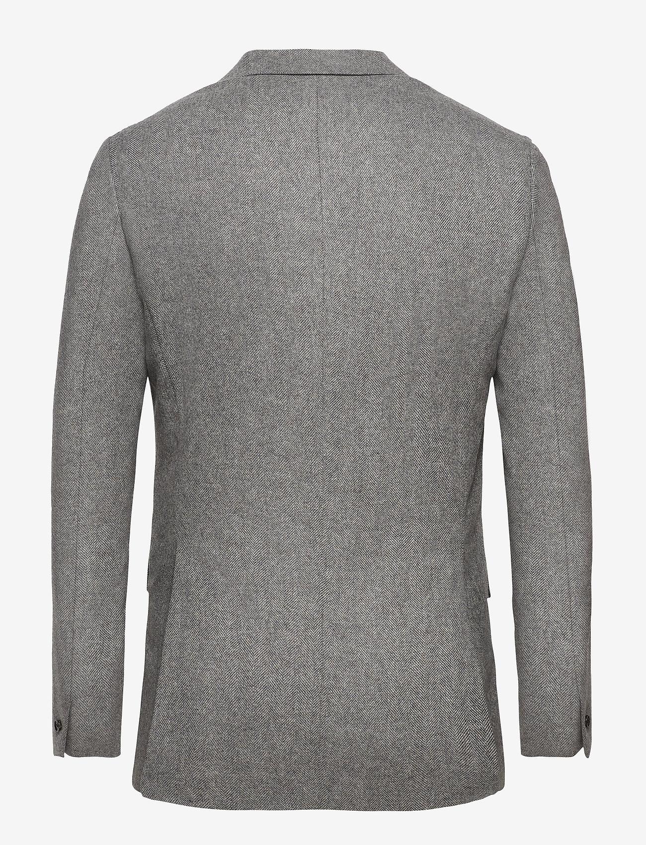 Filippa K - M. Sean Herringbone Jacket - enkeltradede blazere - grey herri - 1