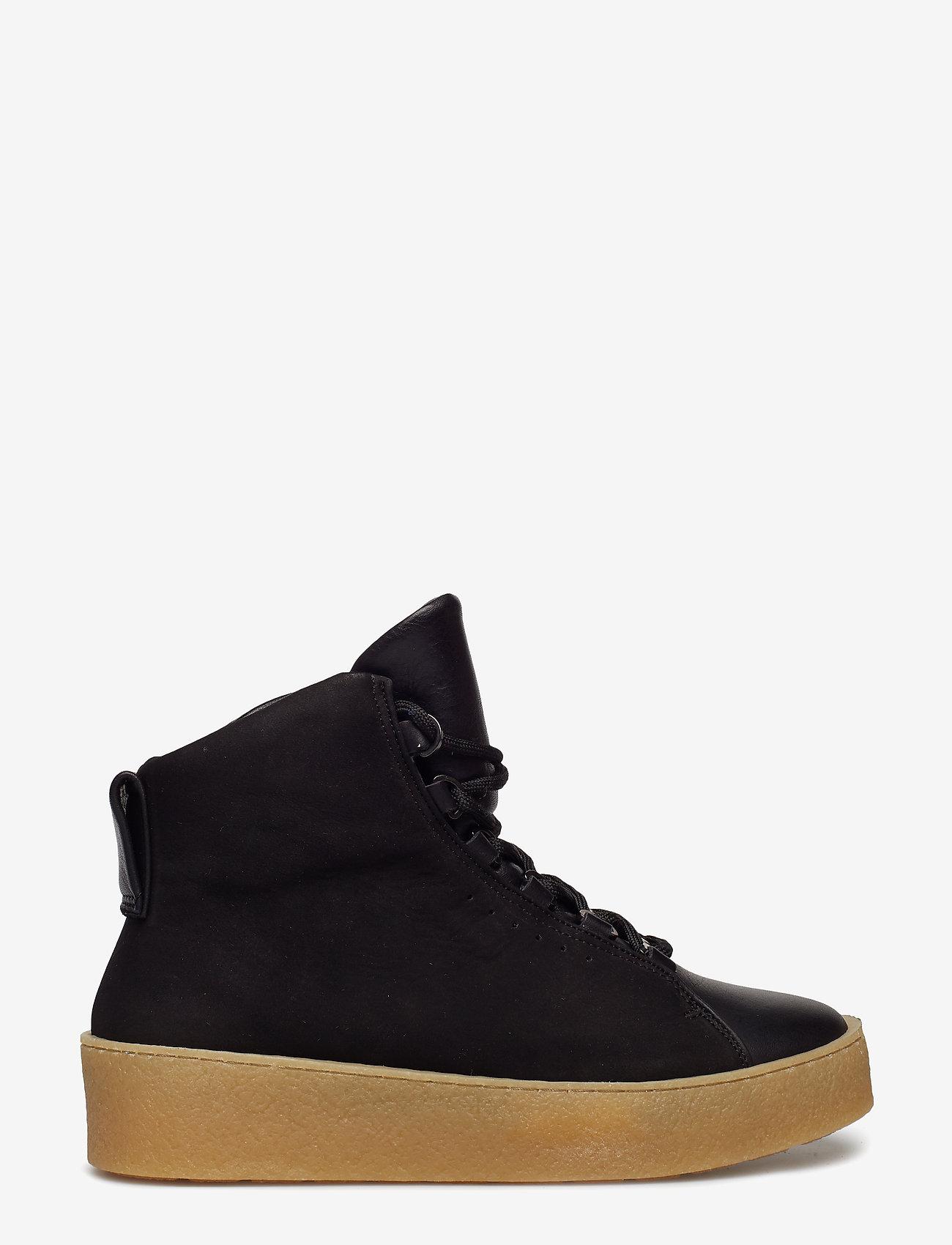 Filippa K - Anna Winter Laced Boot - flat ankle boots - black nubu - 1