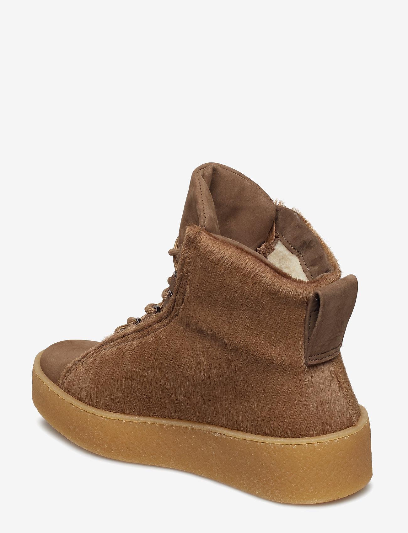 Anna Winter Laced Boot (Camel Fur) - Filippa K