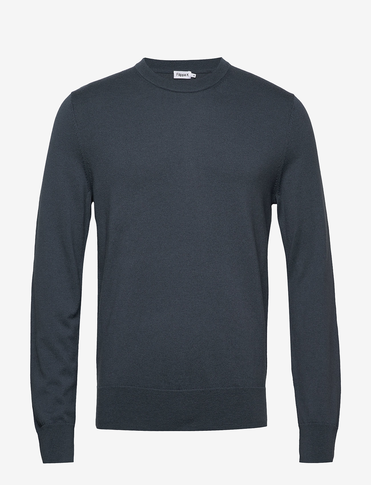 Filippa K - M. Cotton Merino Basic Sweater - tricots basiques - blue grey - 0
