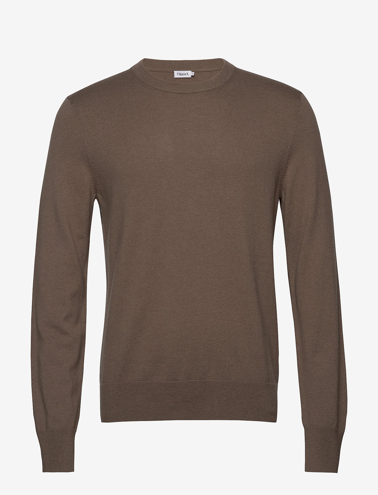 Filippa K - M. Cotton Merino Basic Sweater - basic strik - grey taupe - 0