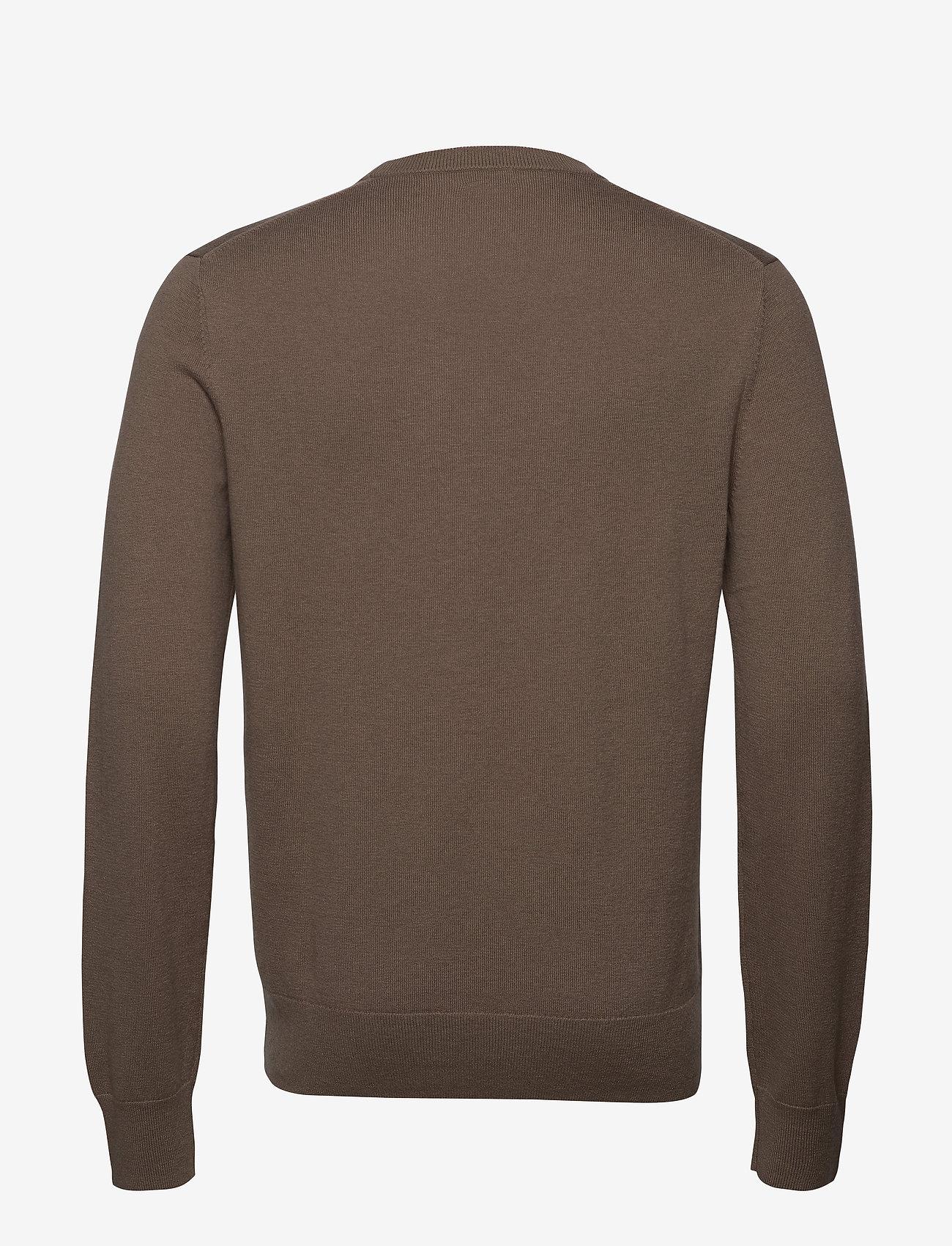 Filippa K - M. Cotton Merino Basic Sweater - basic strik - grey taupe - 1