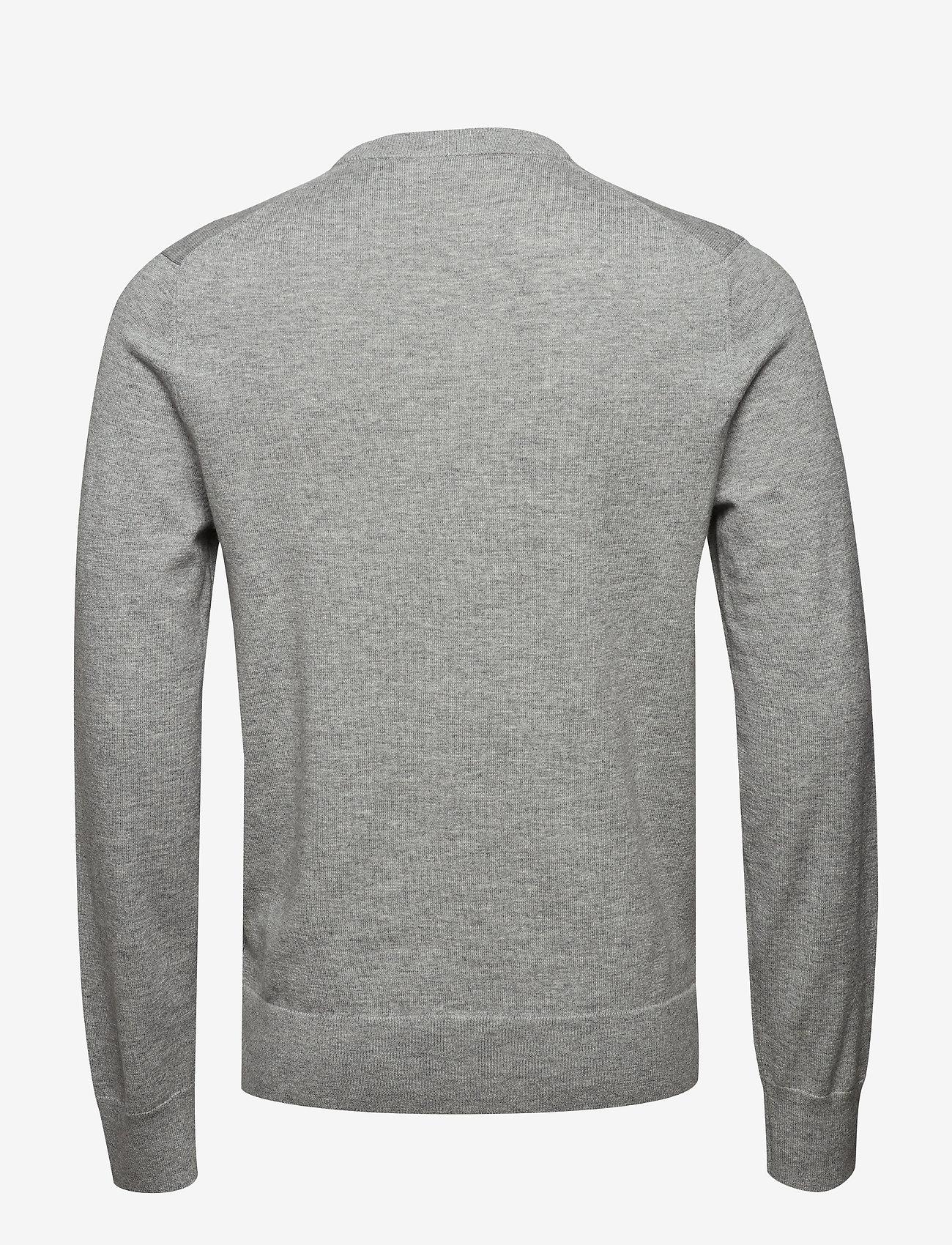 Filippa K - M. Cotton Merino Basic Sweater - basic knitwear - light grey - 1