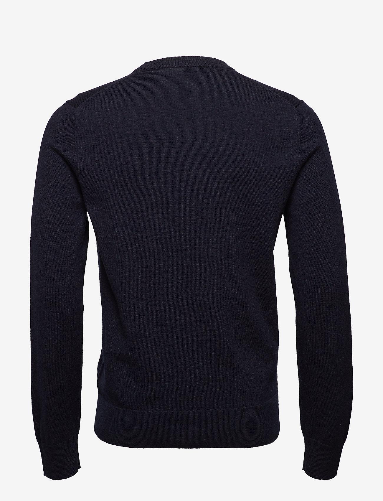 Filippa K - M. Cotton Merino Basic Sweater - basic strik - navy - 1