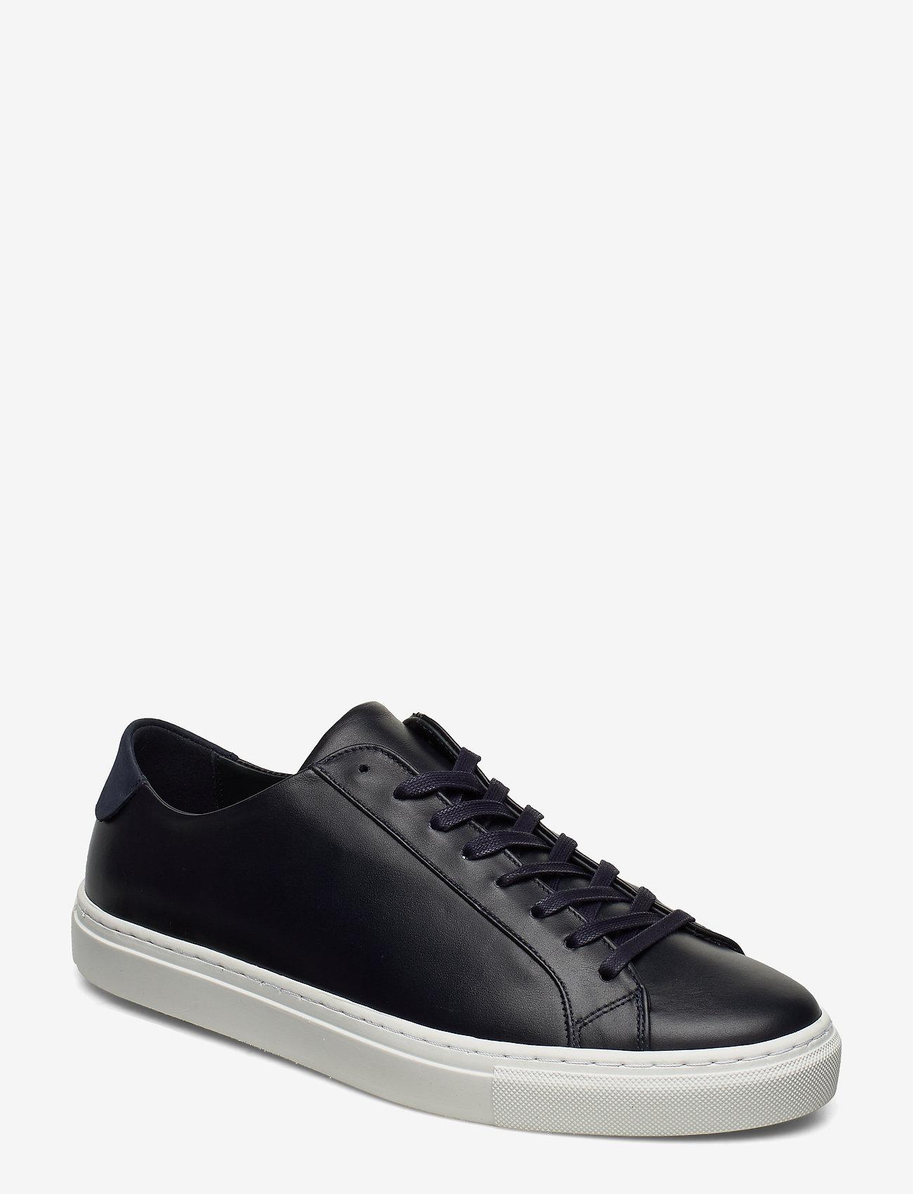 Filippa K - M. Morgan Low Mix Sneaker - låga sneakers - navy - 1