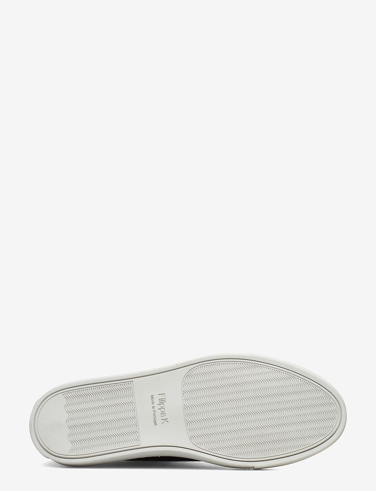 Filippa K - M. Morgan Low Mix Sneaker - låga sneakers - navy - 4