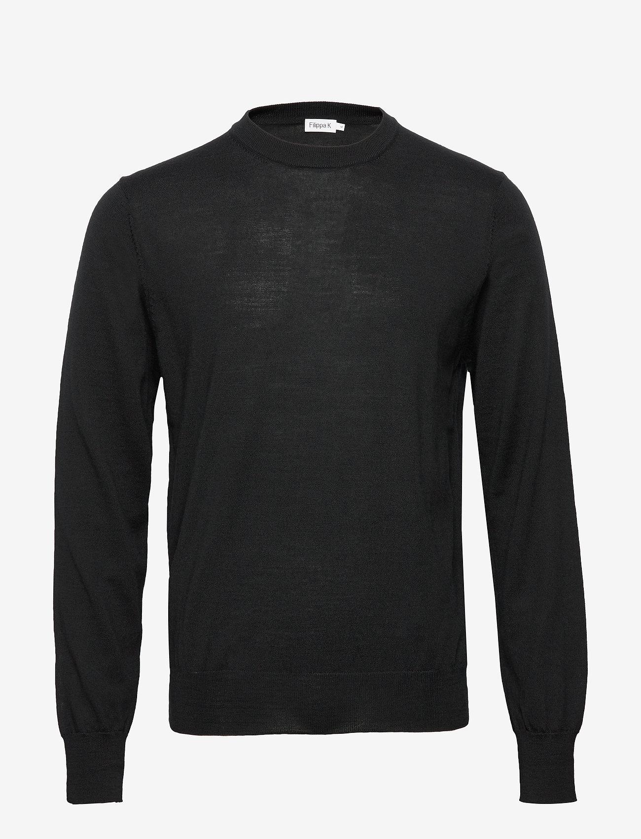 Filippa K - M. Merino Sweater - rund hals - black - 0