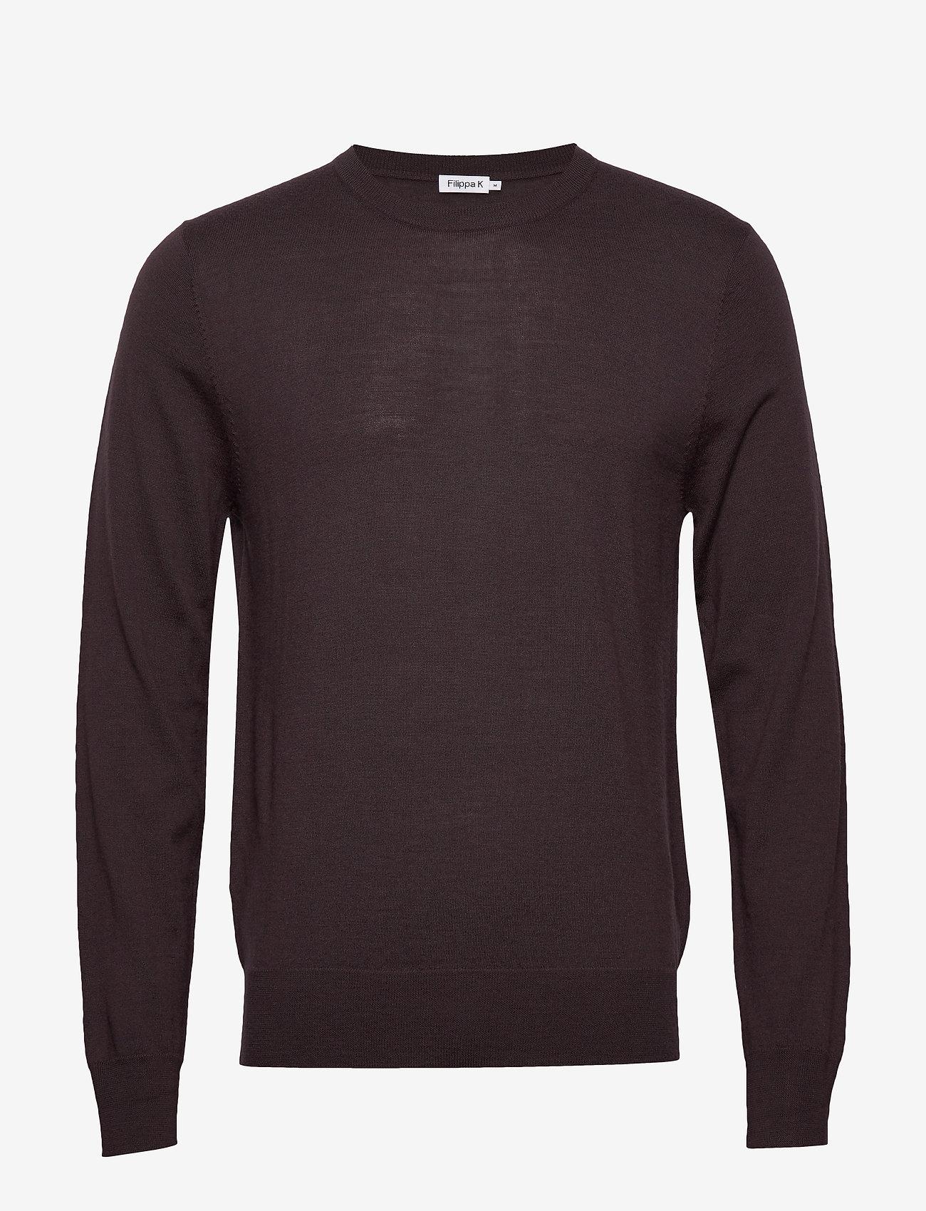 Filippa K - M. Merino Sweater - pulls col rond - dark plum - 0