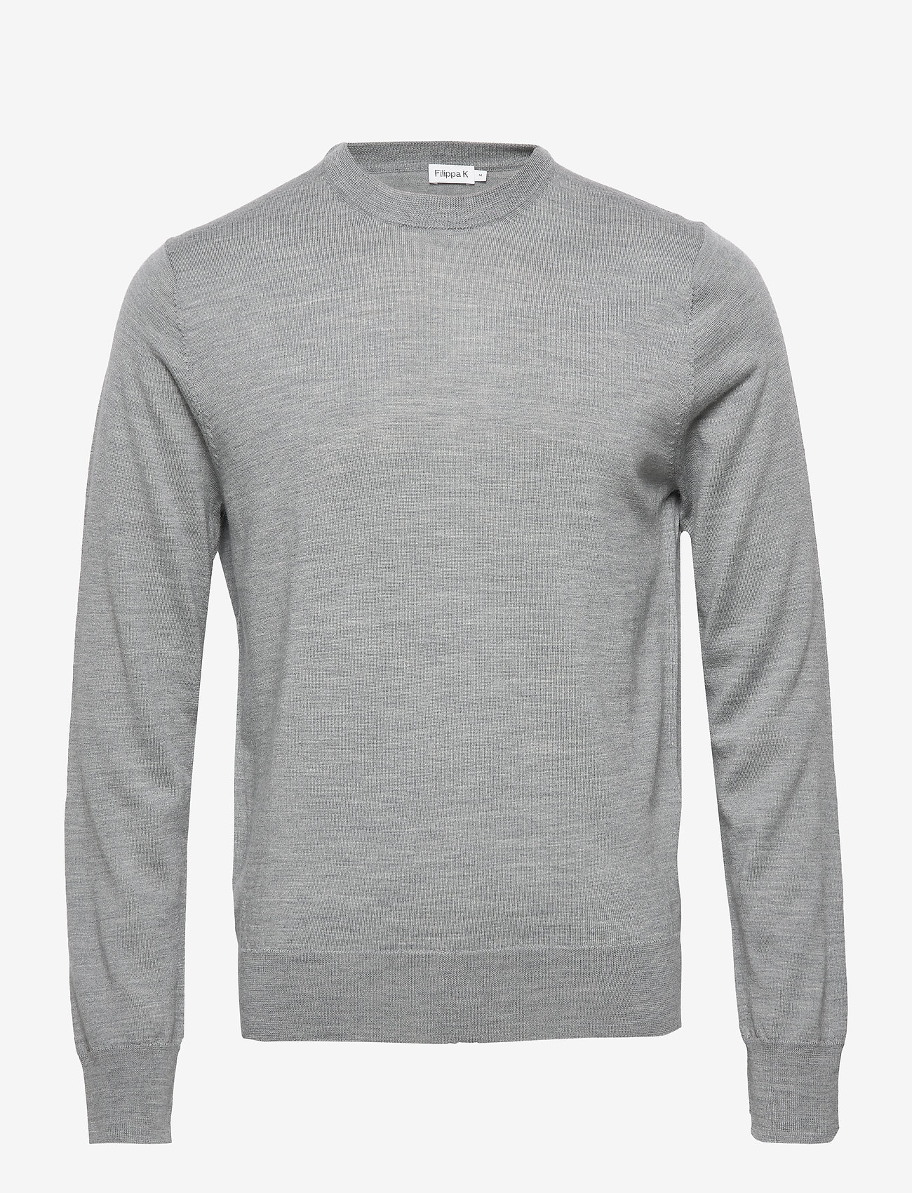 Filippa K - M. Merino Sweater - knitted round necks - grey mel. - 0