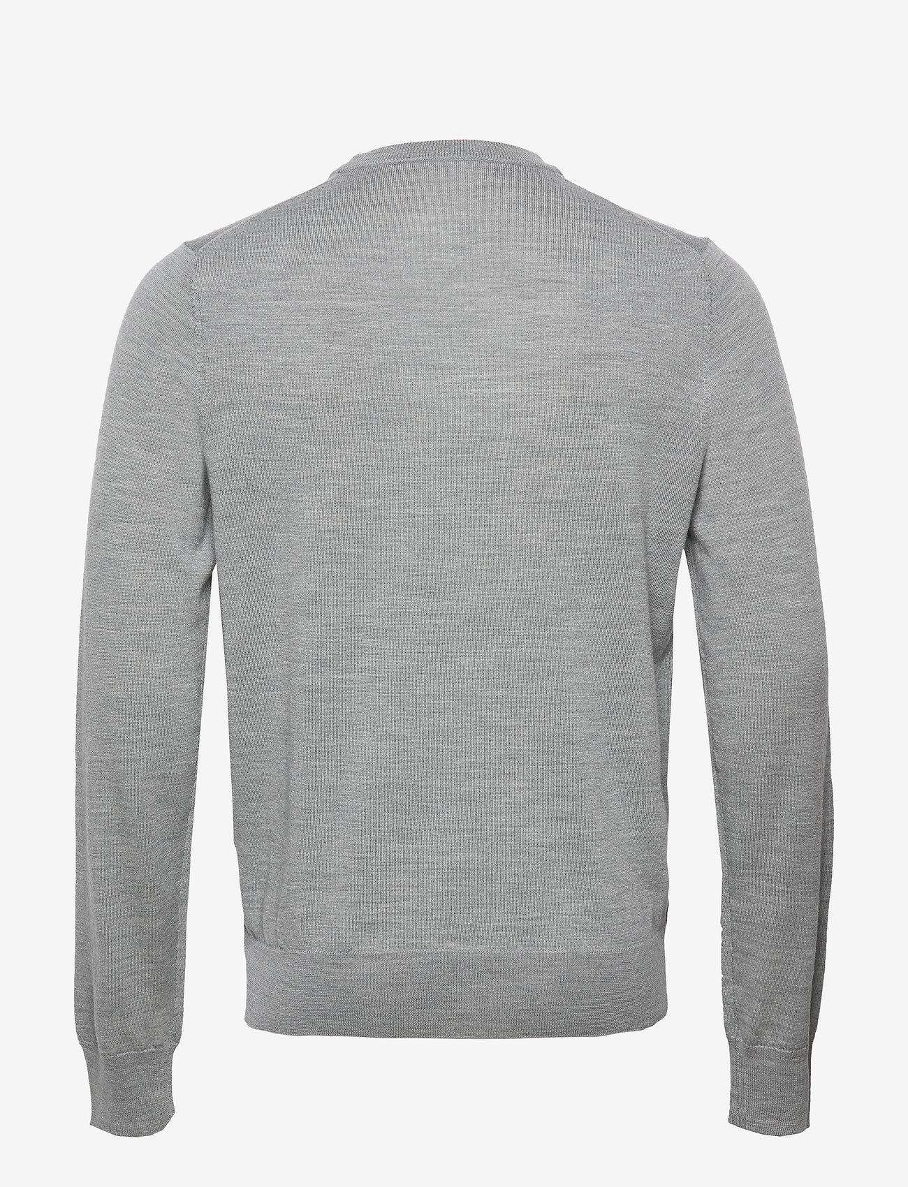 Filippa K - M. Merino Sweater - pulls col rond - grey mel. - 1