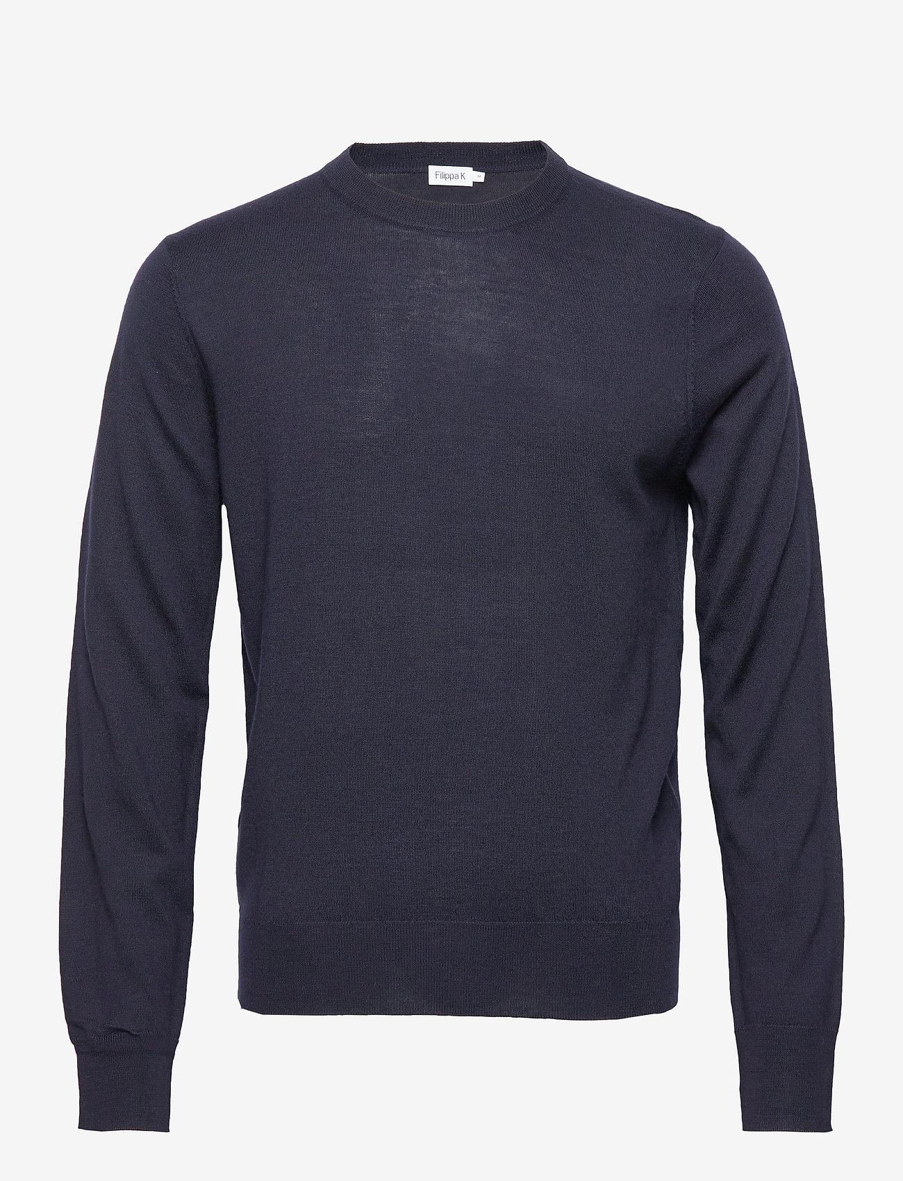 Filippa K - M. Merino Sweater - rund hals - navy - 0