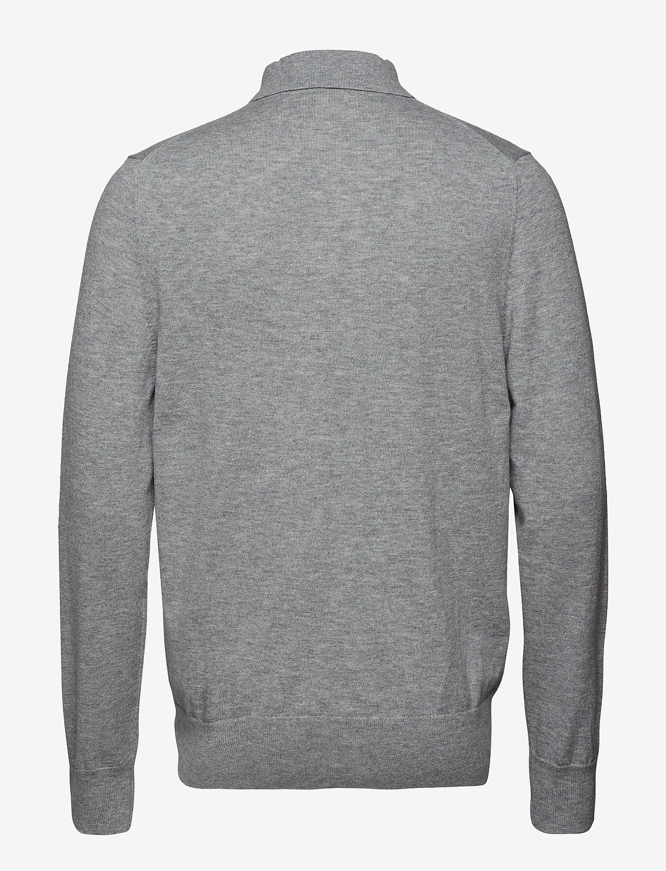 Filippa K - M. Knitted Polo Shirt - lange mouwen - light grey - 1