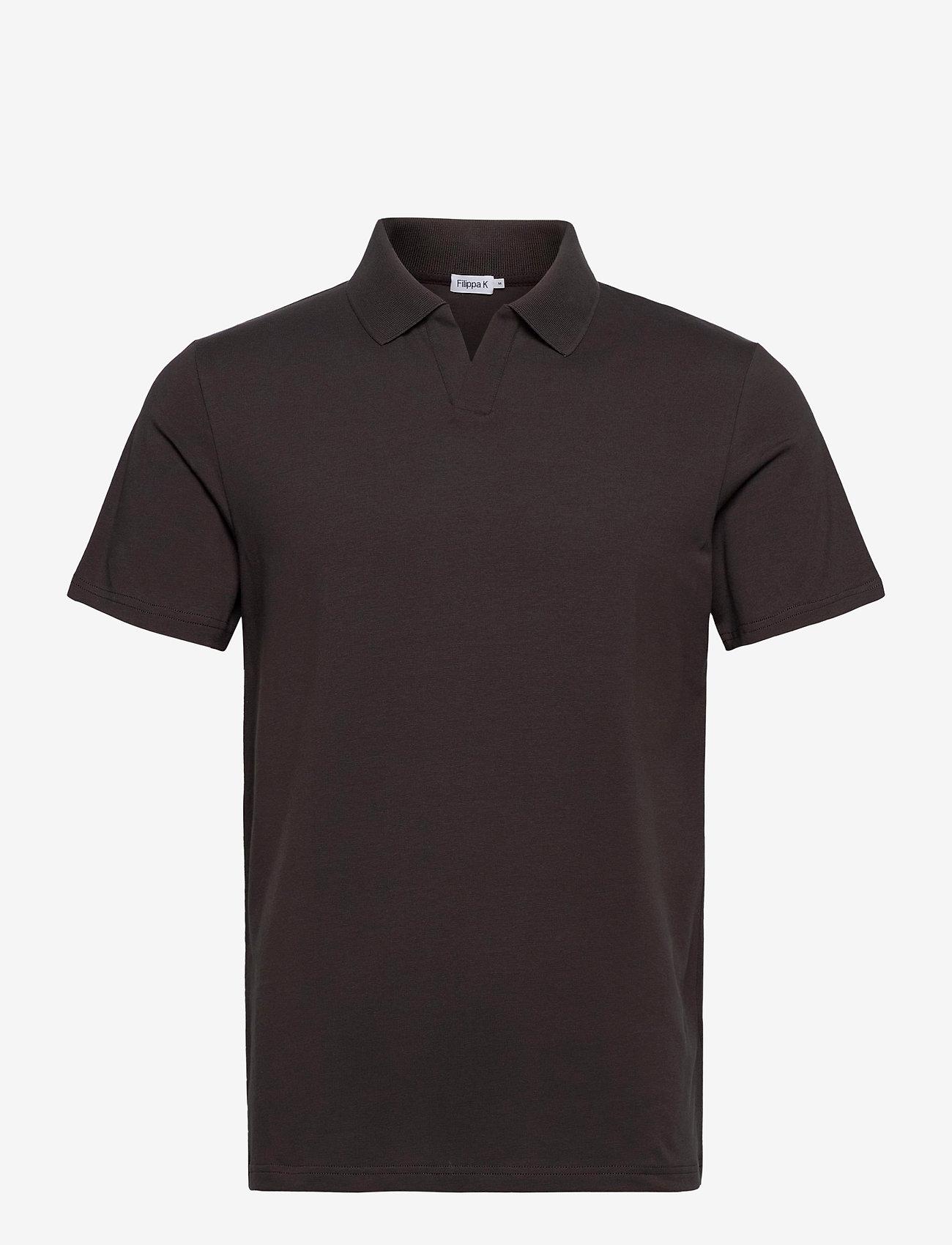 Filippa K - M. Lycra Polo T-Shirt - korte mouwen - dark mole - 0