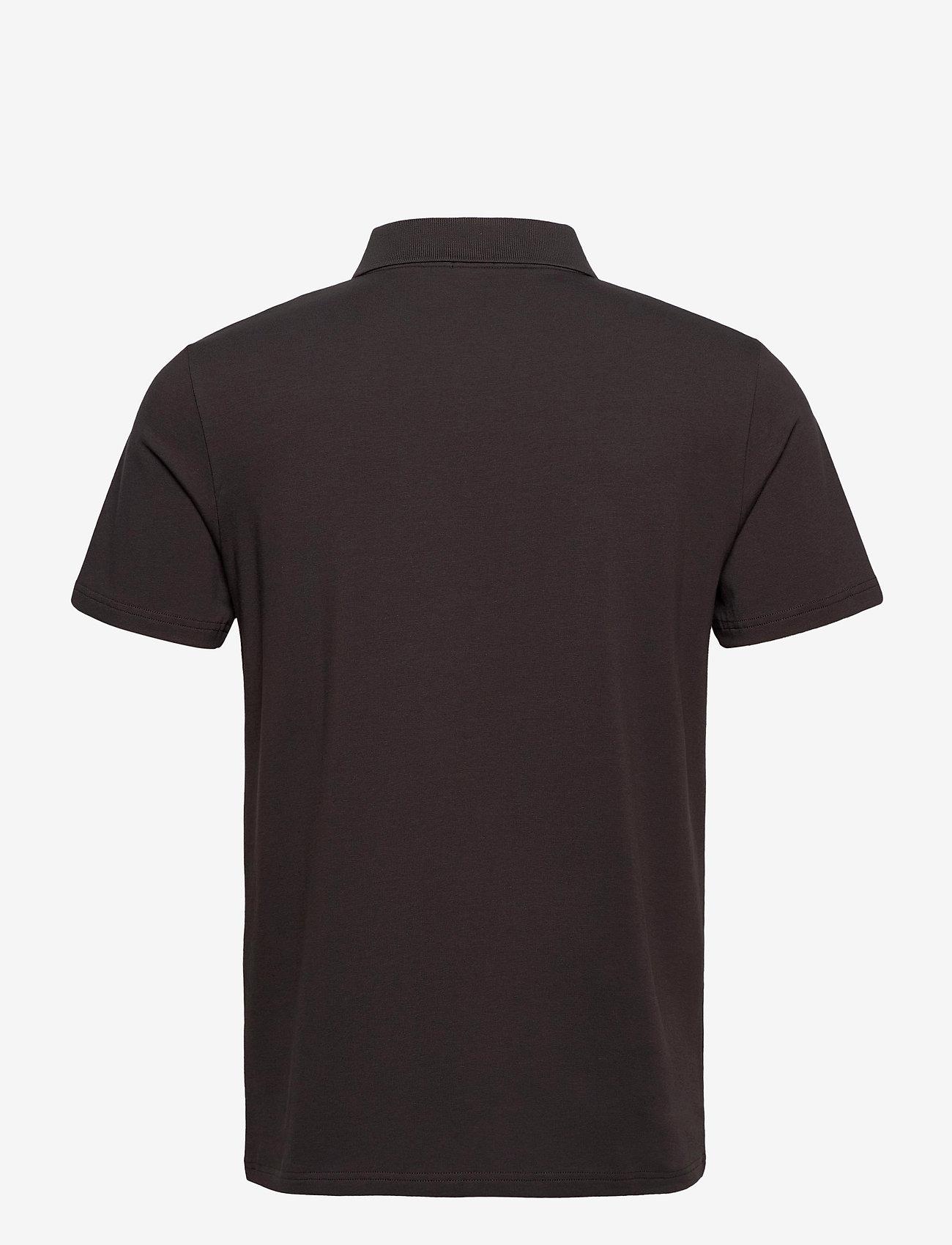 Filippa K - M. Lycra Polo T-Shirt - korte mouwen - dark mole - 1