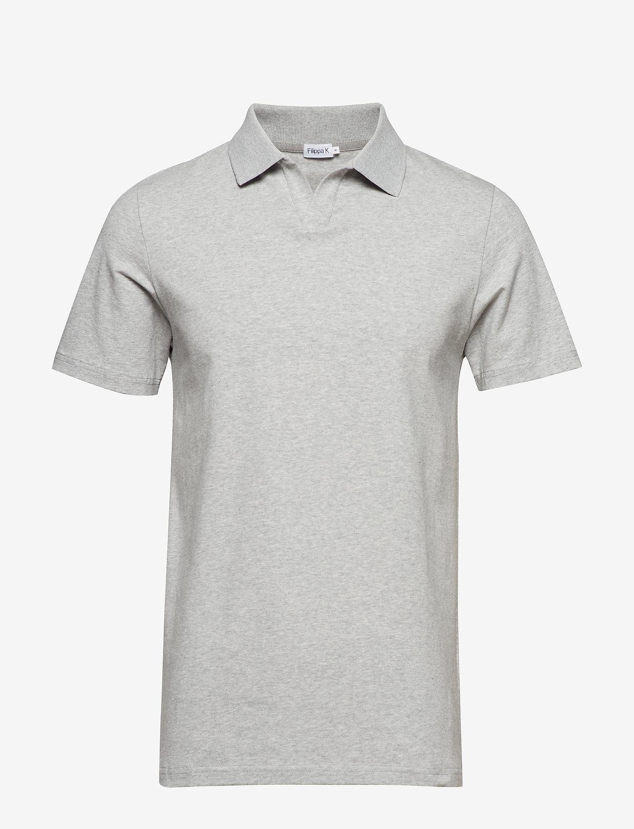 Filippa K - M. Lycra Polo T-Shirt - korte mouwen - light grey - 0